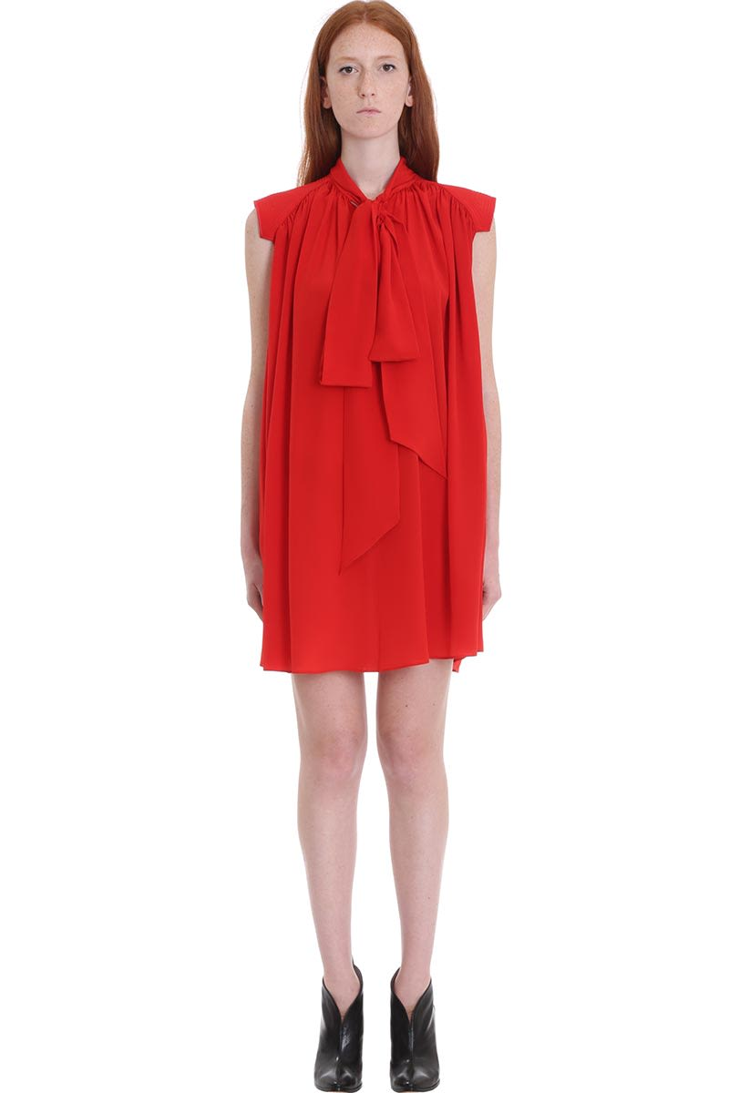 Buy Givenchy Dress In Red Silk online, shop Givenchy with free shipping