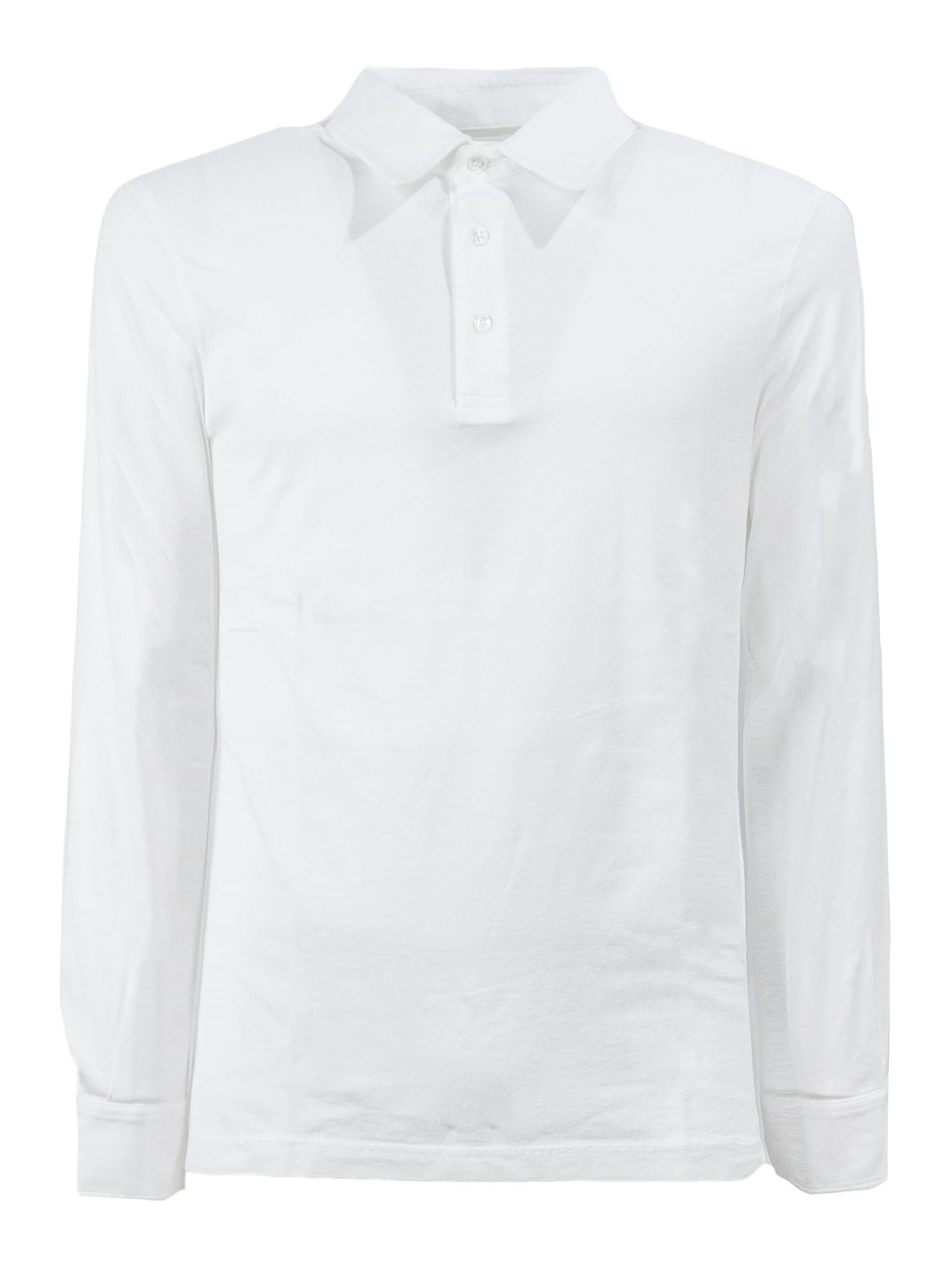 Fedeli White Cotton Polo Shirt