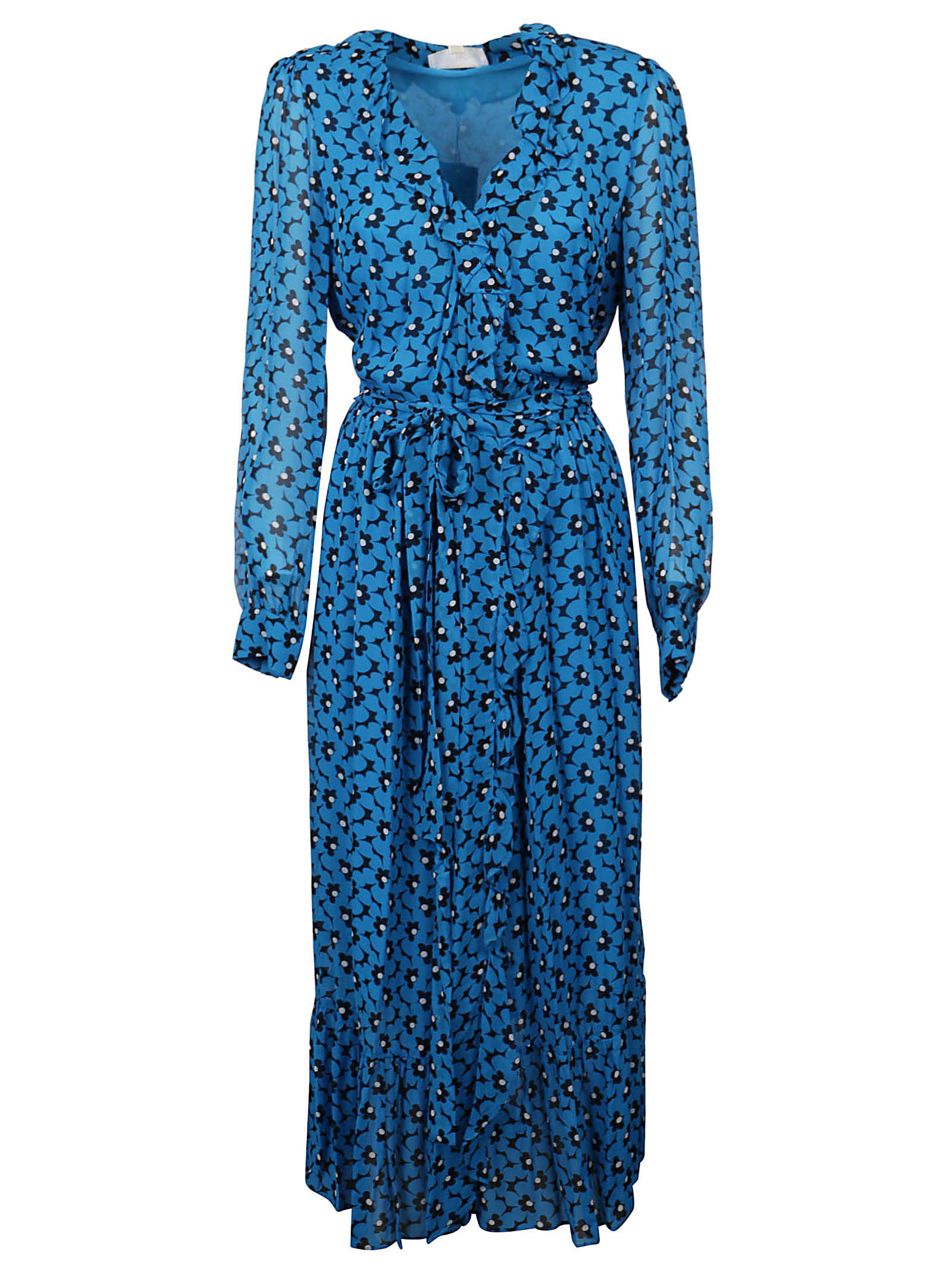 Buy Michael Kors Bicolor 60s Floral Dress online, shop Michael Kors with free shipping