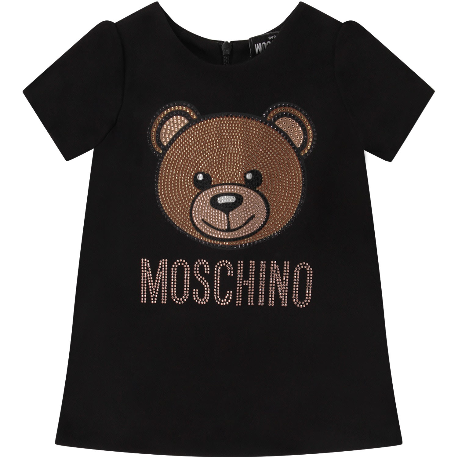 Moschino Black Babygirl Dress With Teddy Bear