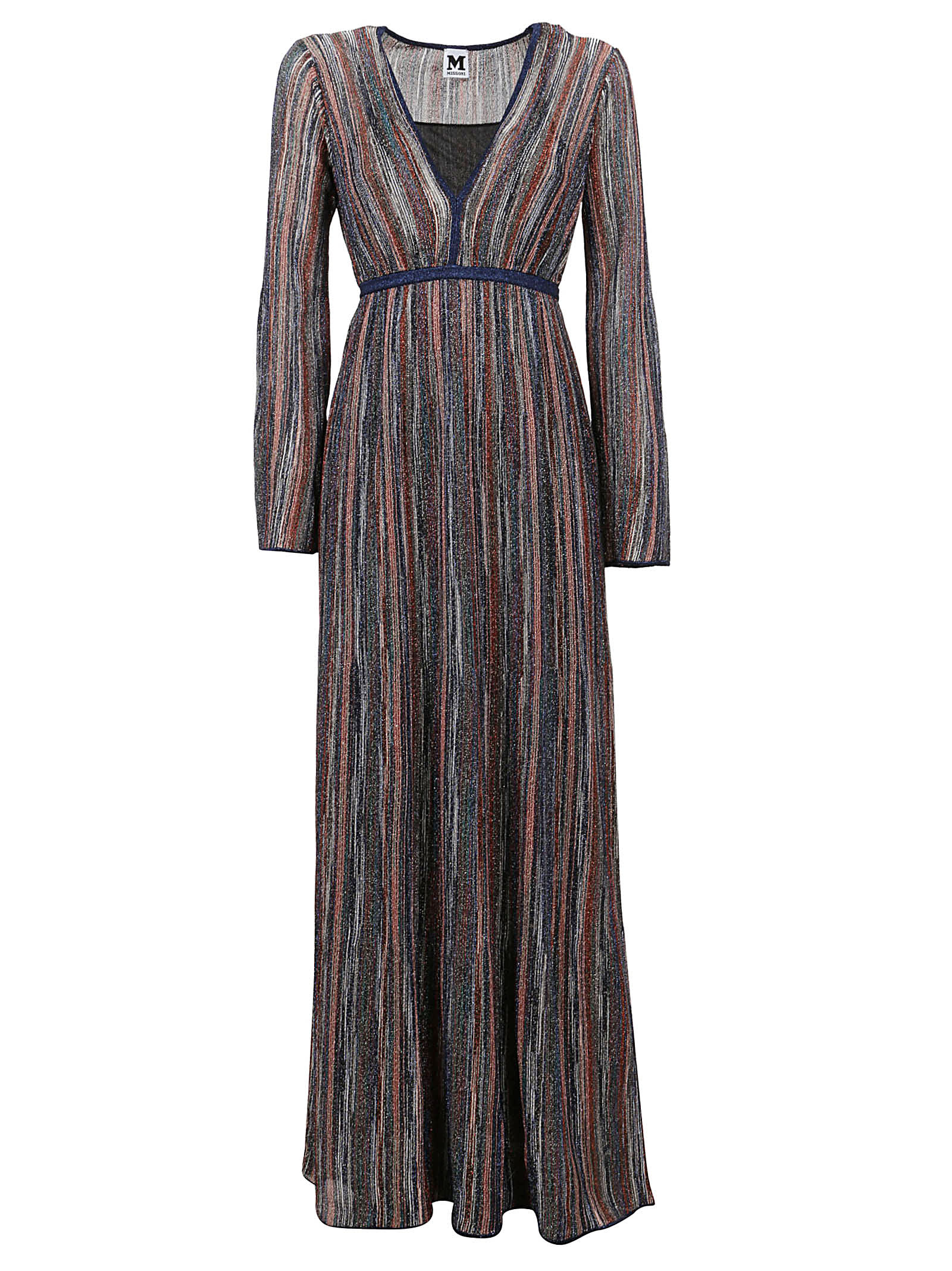 Multicolor Striped Lurex Dress
