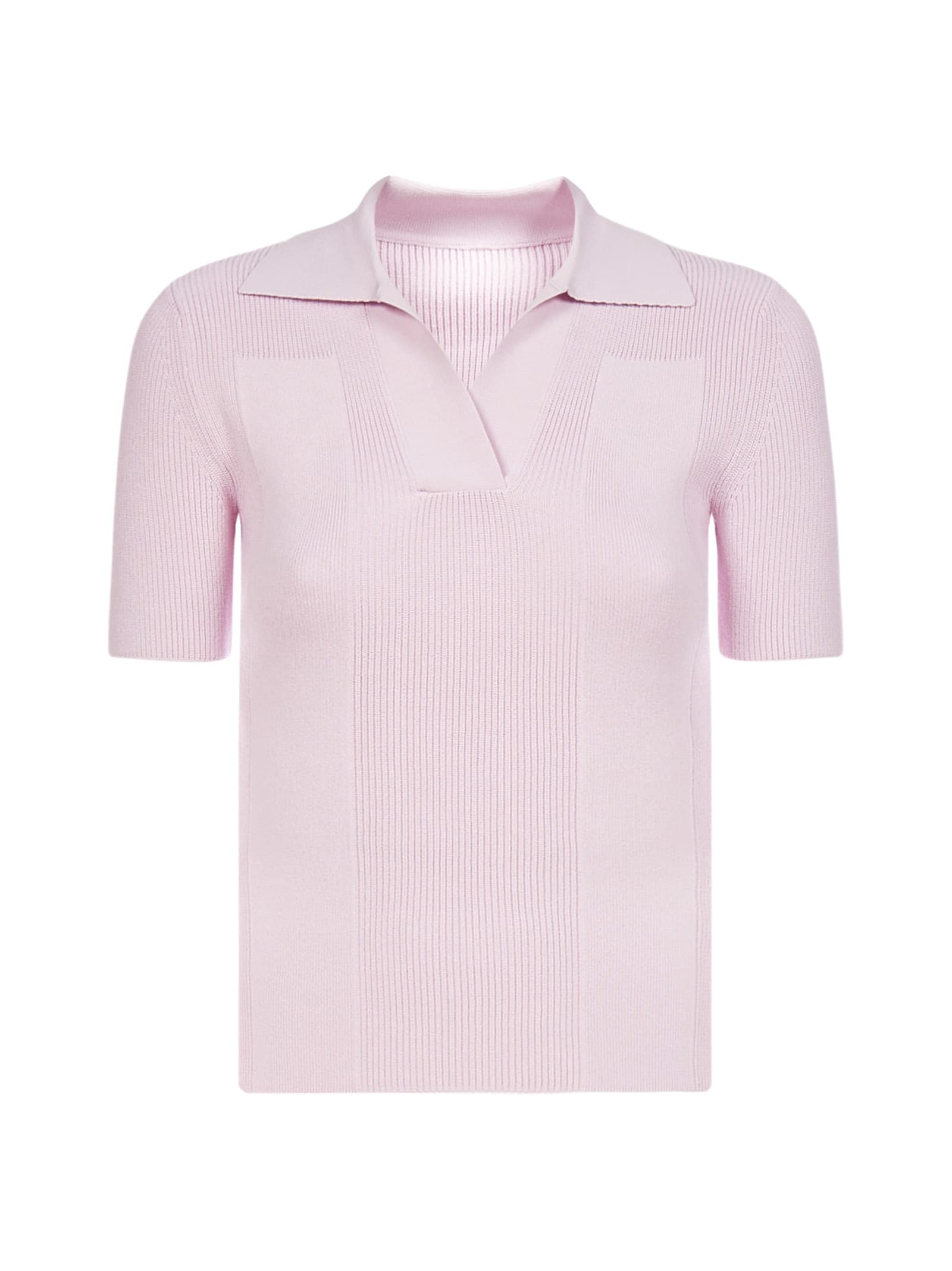 Jacquemus Back Cut-out Viscose Knit Polo Shirt