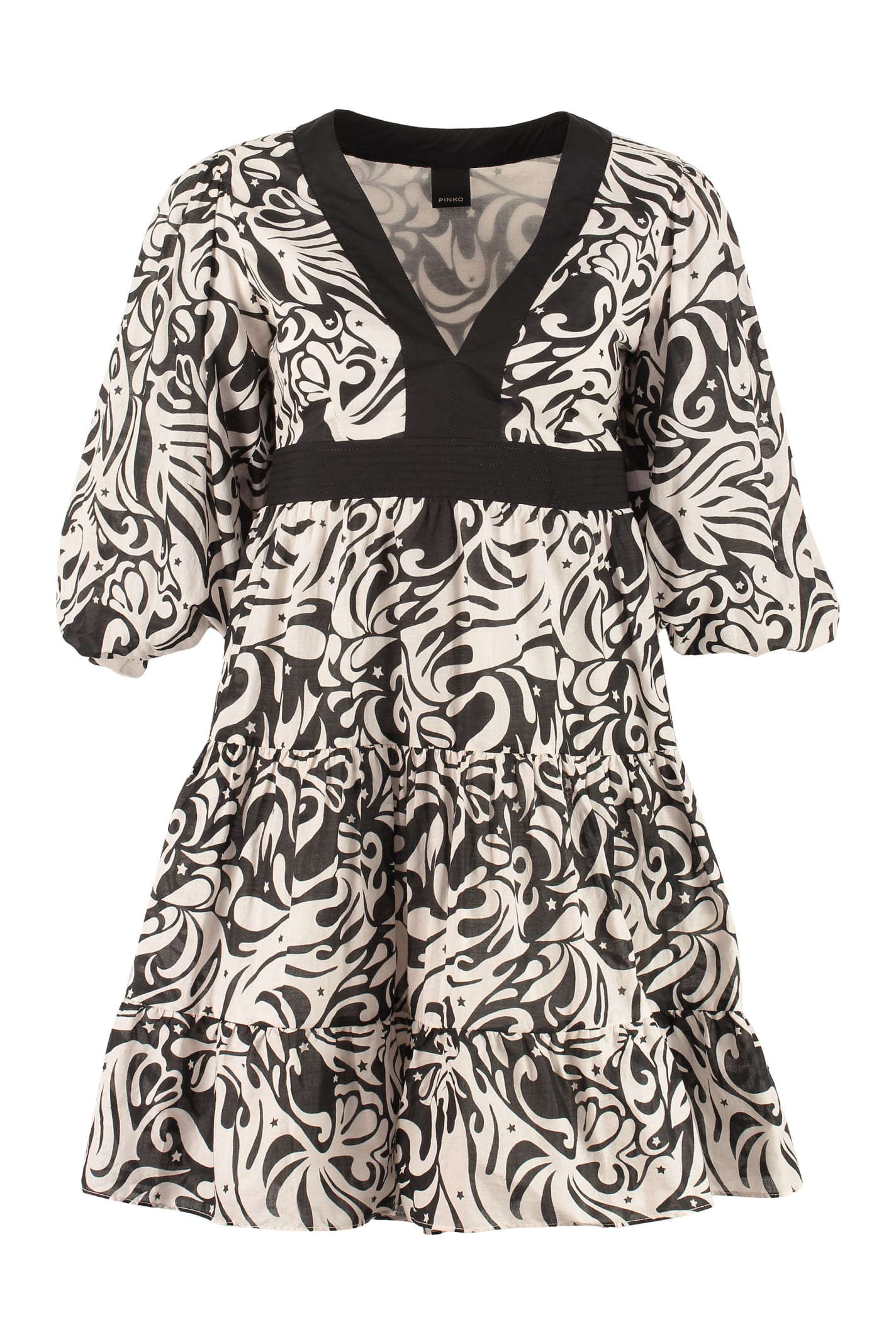 Buy Pinko Balto Patterned Cotton Dress online, shop Pinko with free shipping