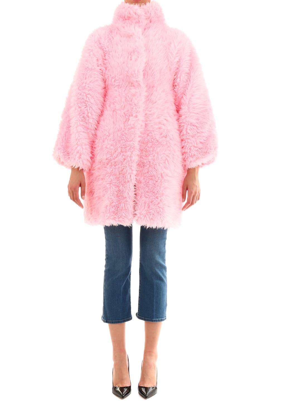 Balenciaga Pink Faux Fur Coat