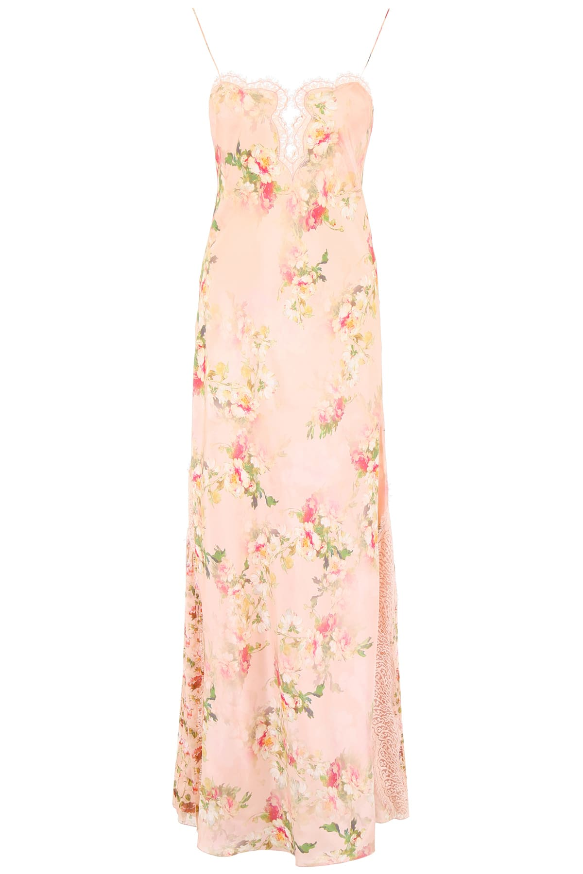 Alberta Ferretti Floral-printed Slip Dress