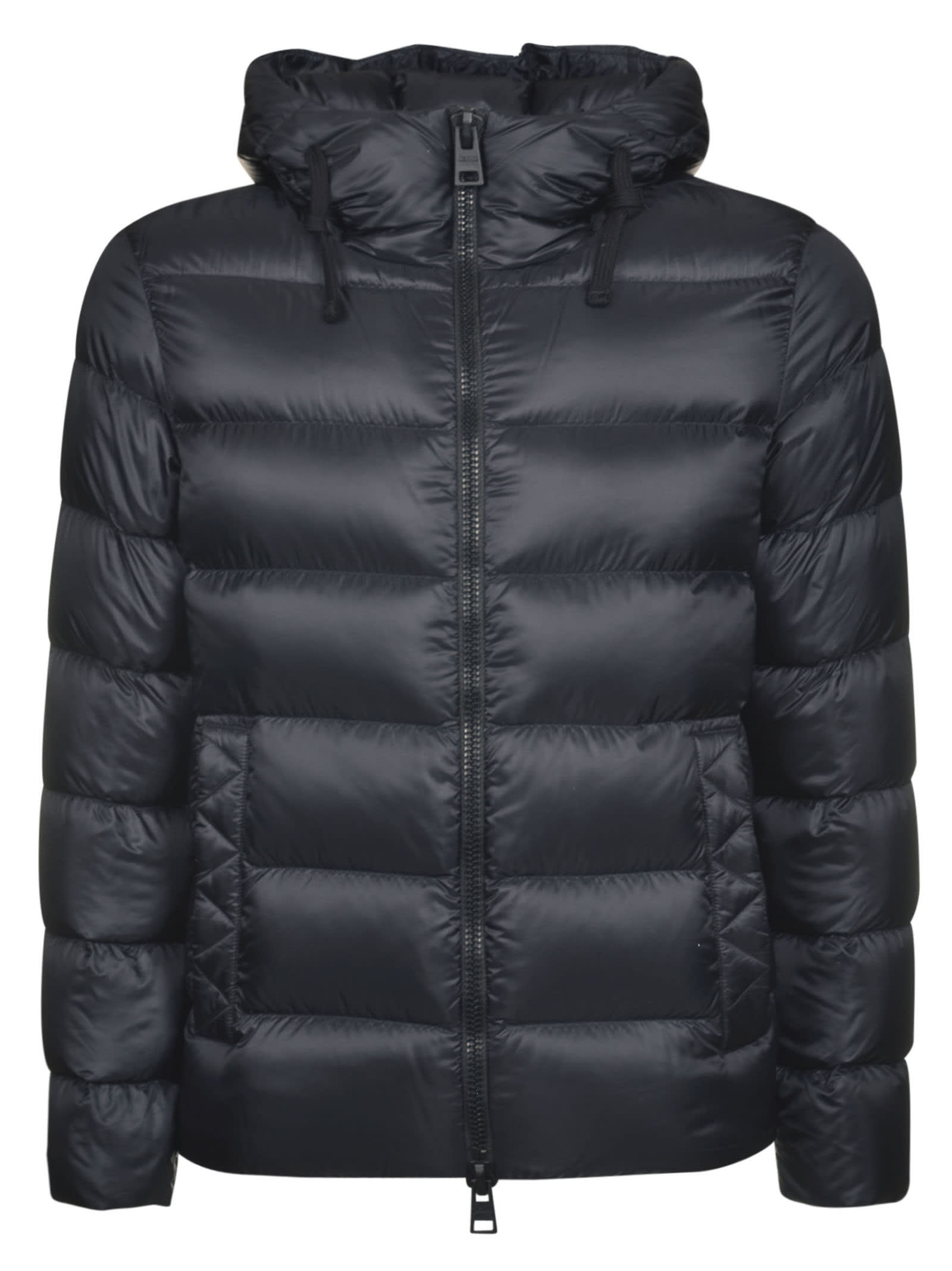 Herno Hooded Padded Jacket In Black