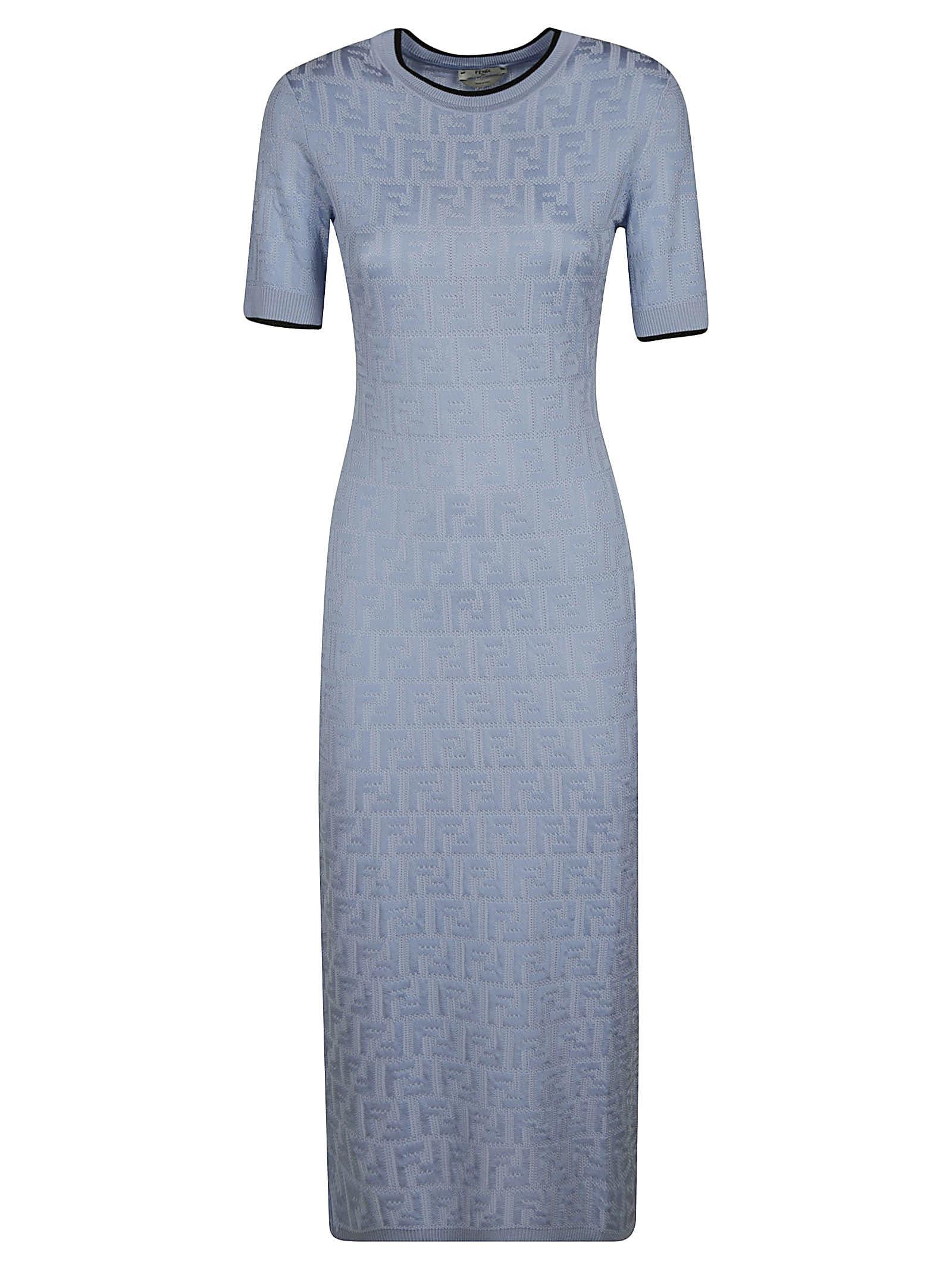 Fendi SLIM LOGO PATTERNED DRESS