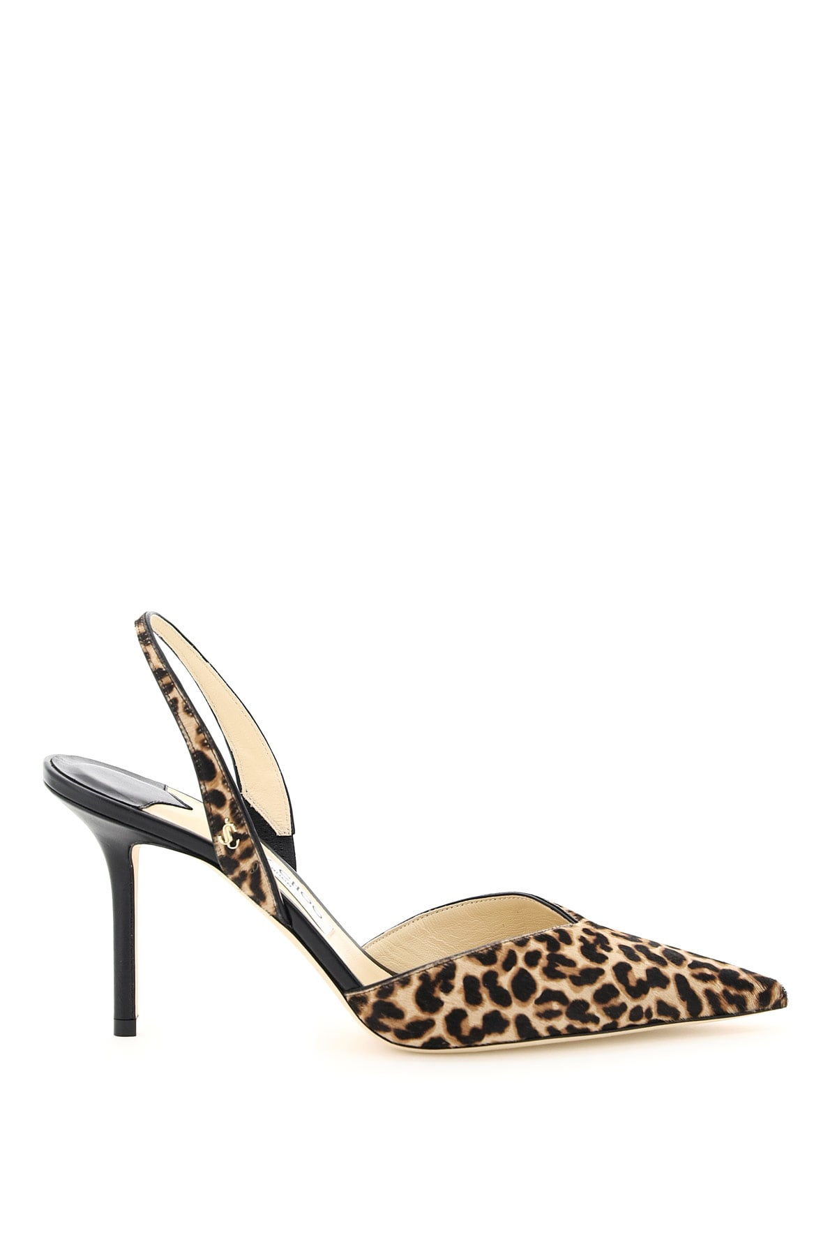 JIMMY CHOO THANDI 85 LEOPARD PRINT SLINGBACK PUMPS
