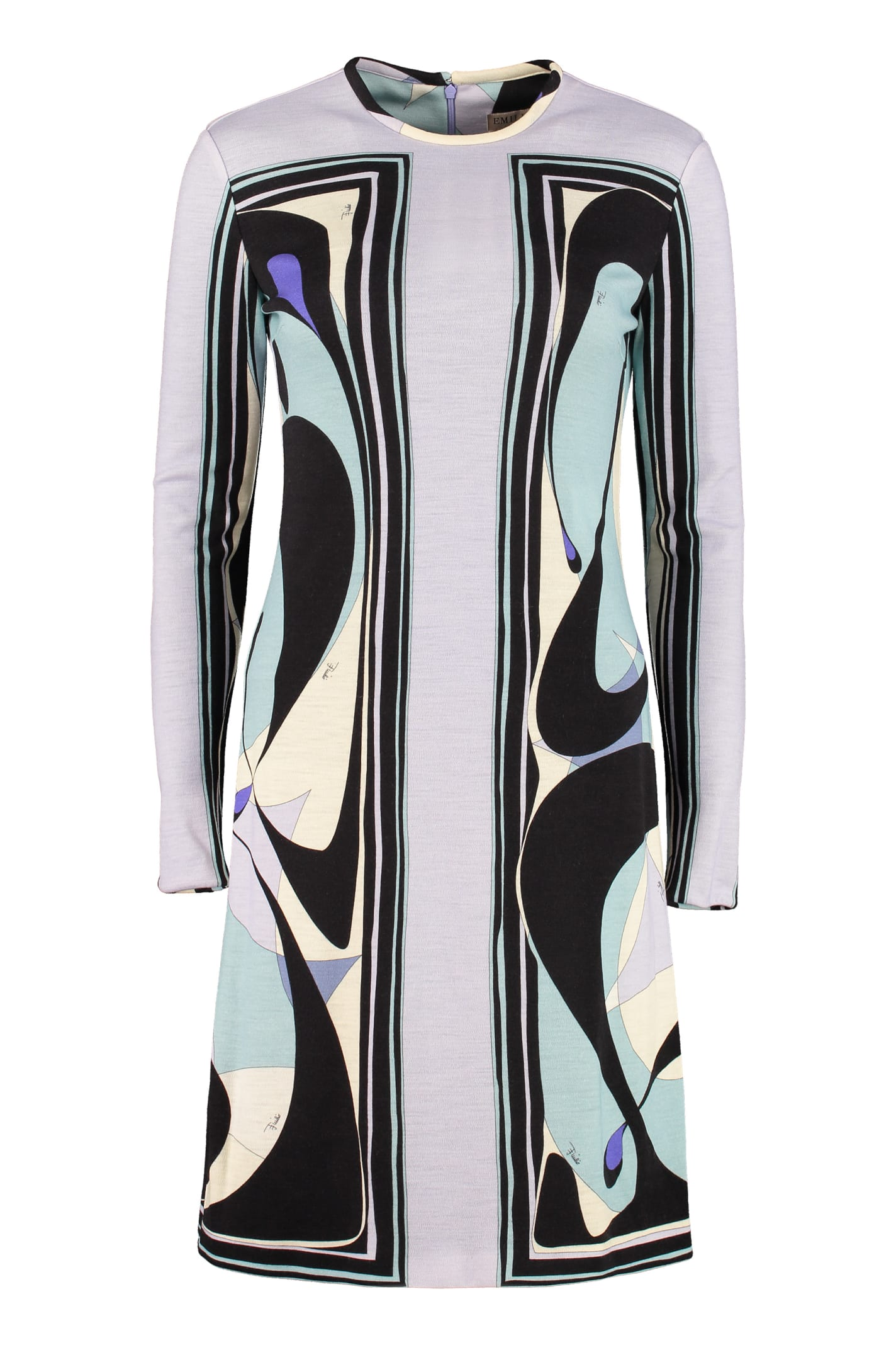 Emilio Pucci Printed Virgin Wool Dress