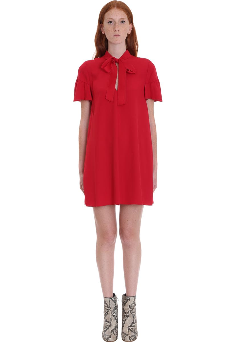 RED Valentino Dress In Red Cotton