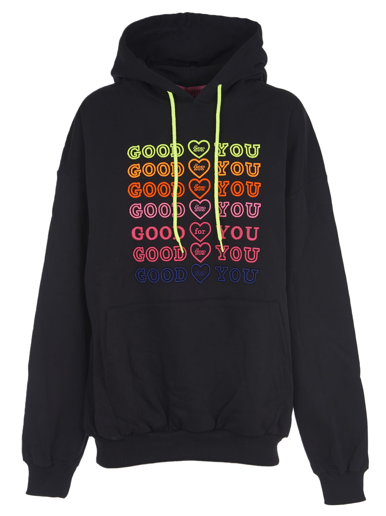 Black Hoodie With Emboidery