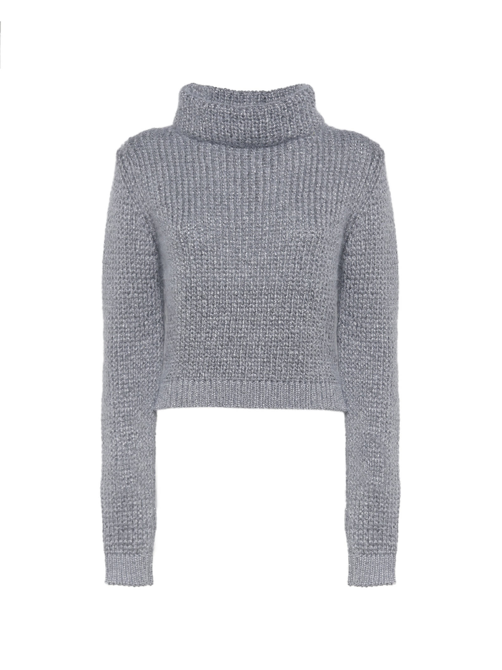 Wool And Lamé-trimmed Sweater