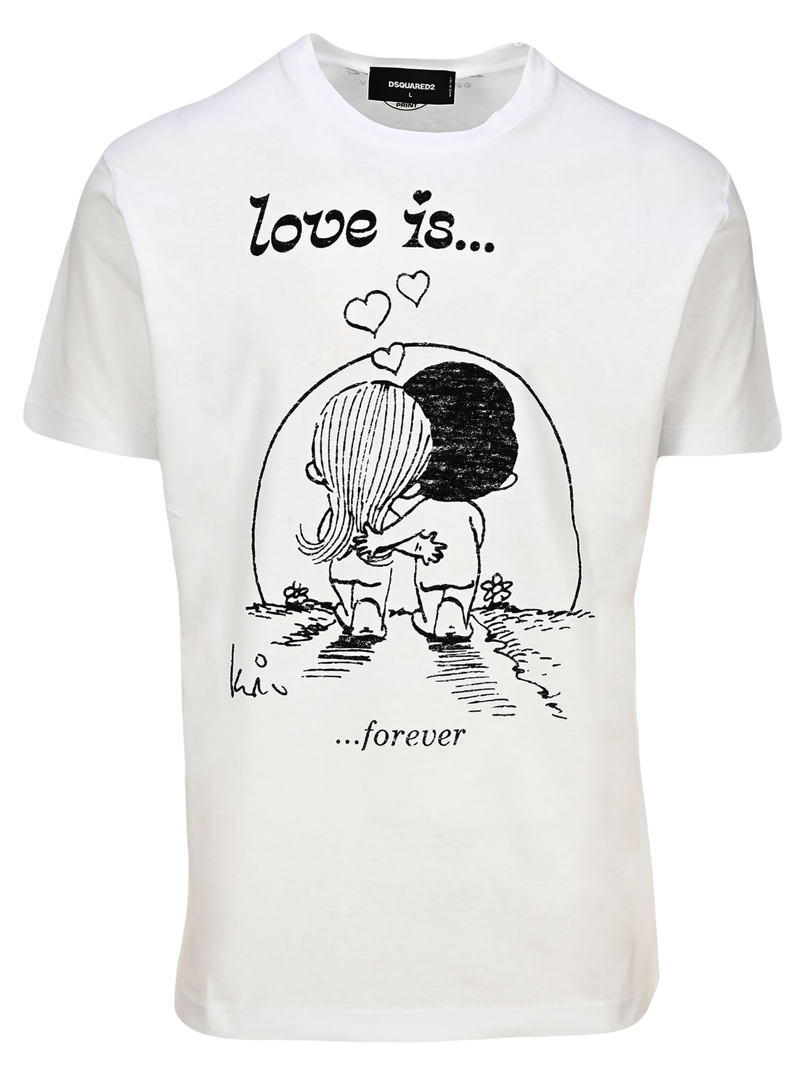 D Squared Love Is Forevre Printed T-shirt