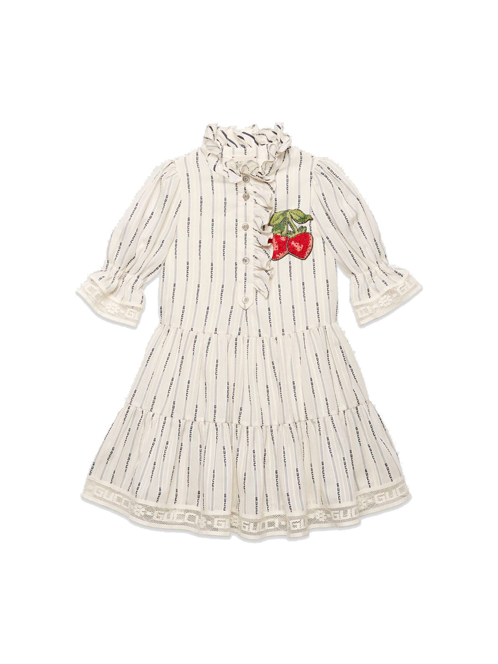 Buy Gucci White Dress online, shop Gucci with free shipping