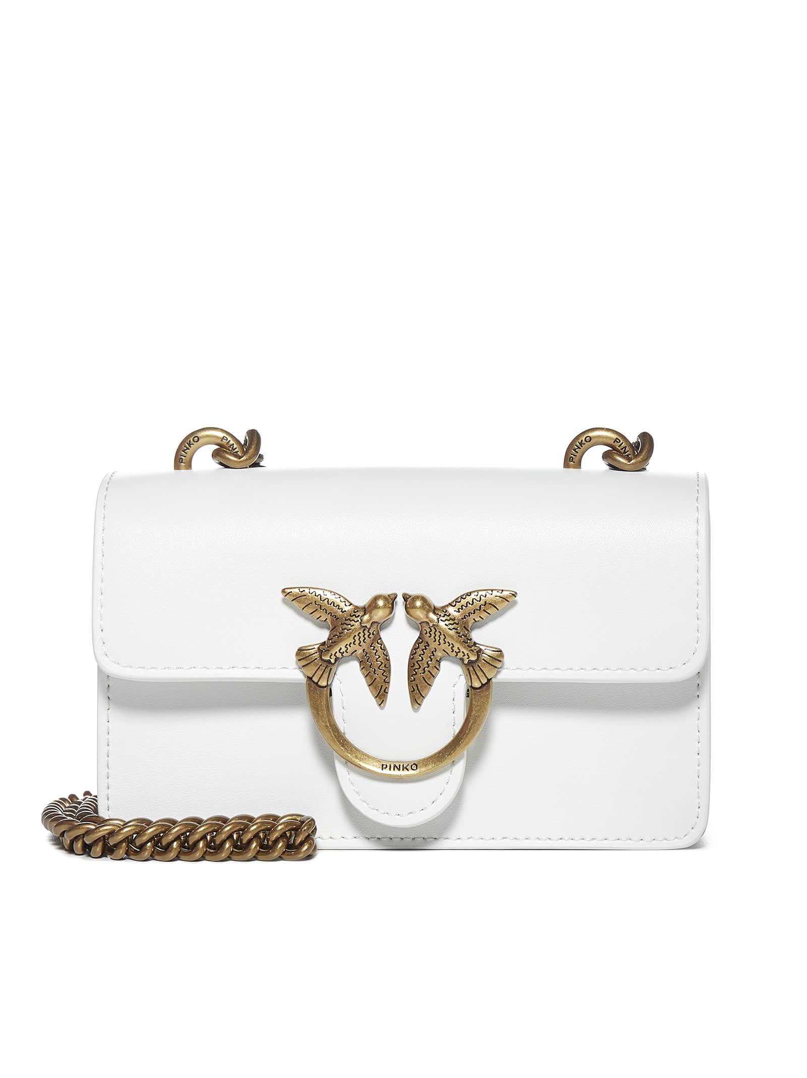 Pinko Shoulder Bag In White