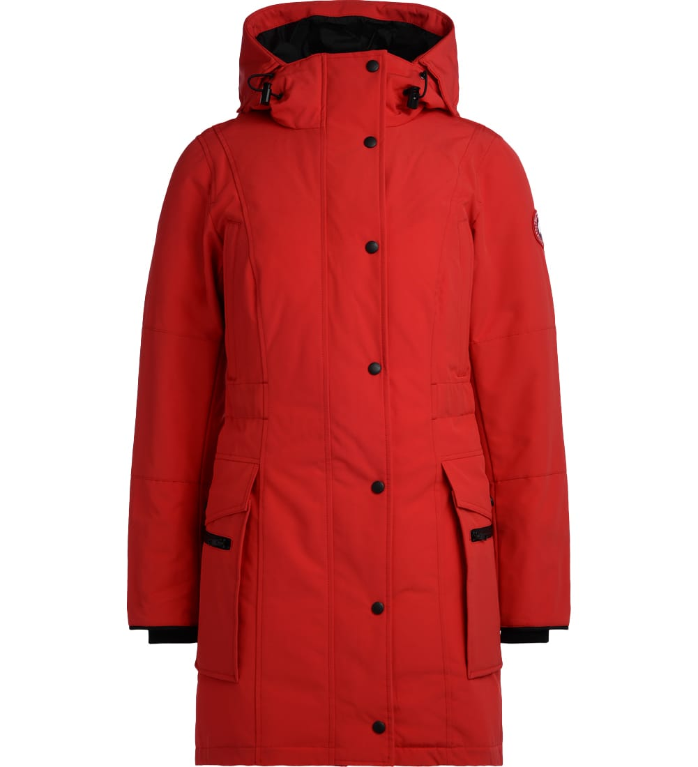 Canada Goose Kinley Red Parka With Hood
