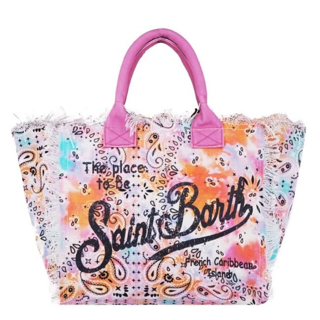 Bandana Tie Dye Multicolor Canvas Bag