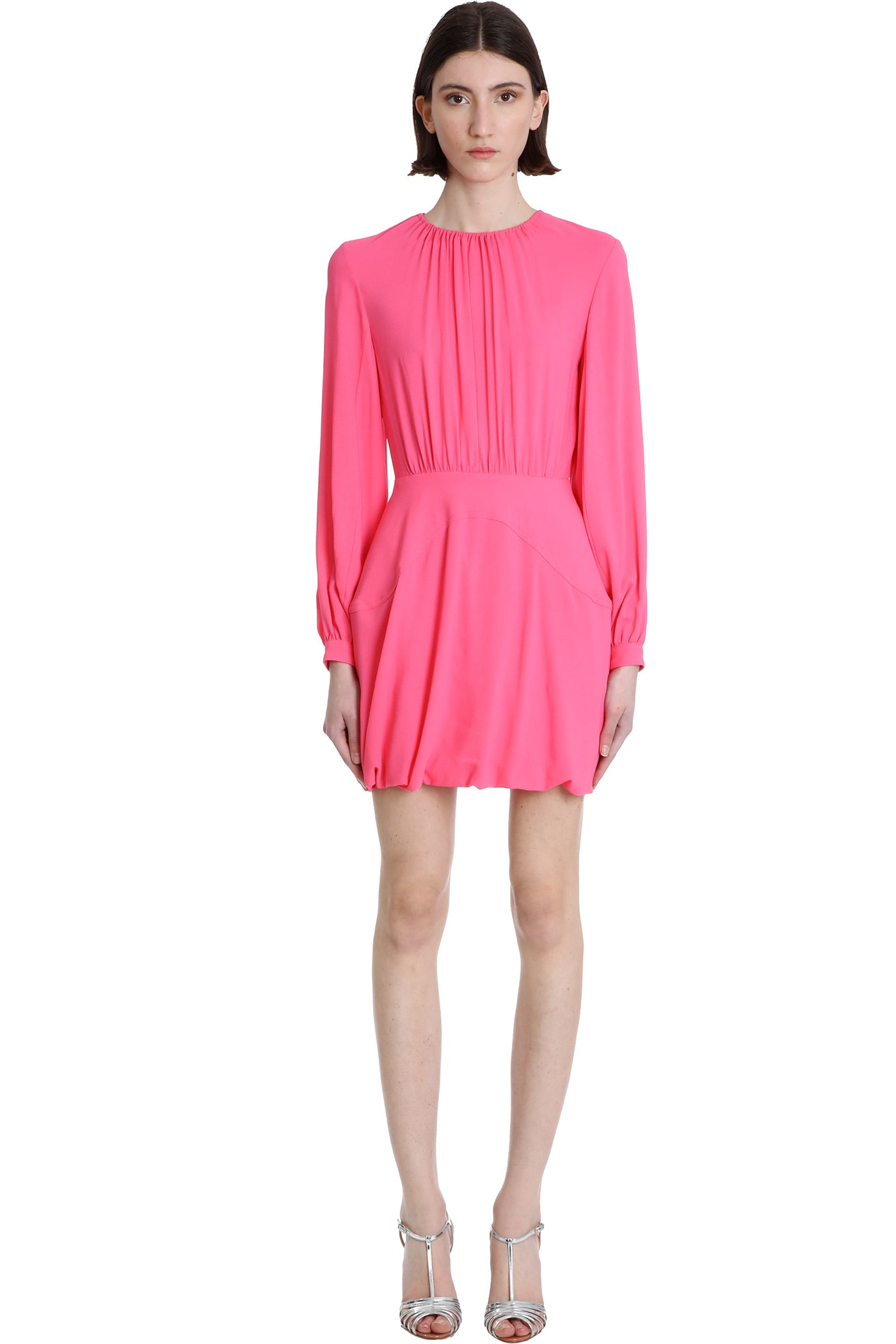 Buy Stella McCartney Amanda Dress In Fuxia Viscose online, shop Stella McCartney with free shipping