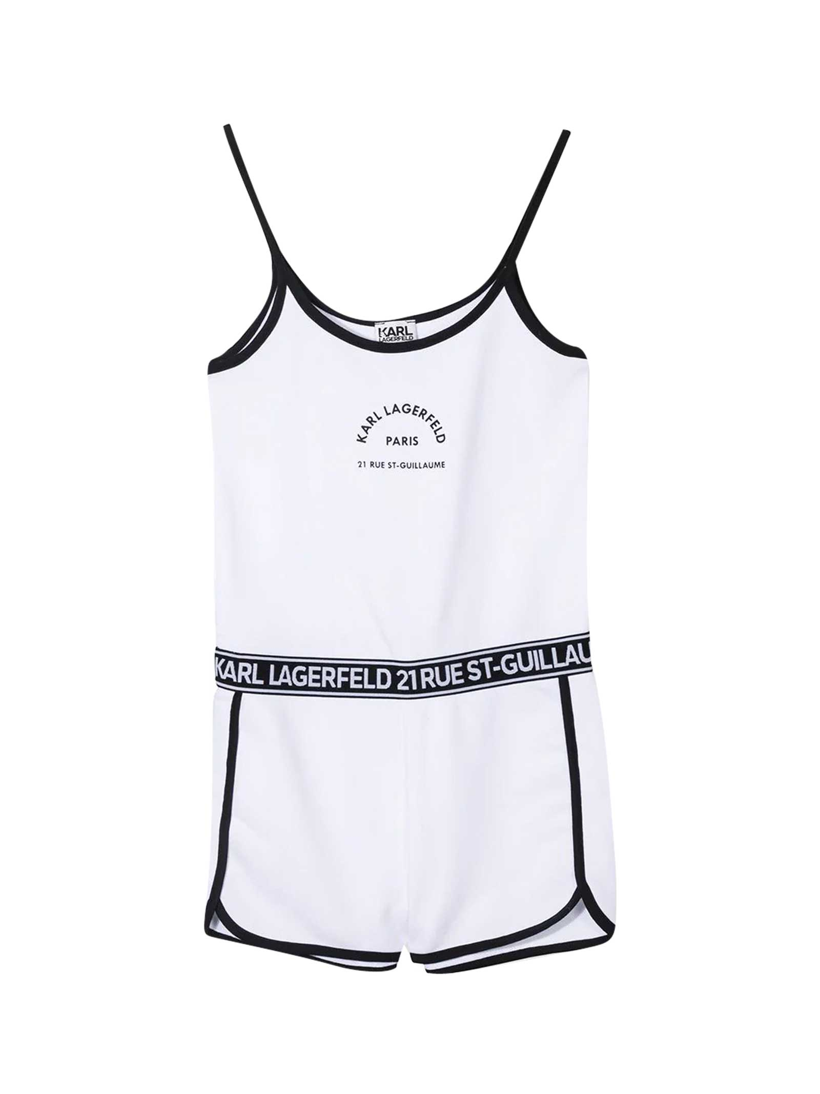 Karl Lagerfeld Jumpsuits SHORT JUMPSUIT WITH PRINT
