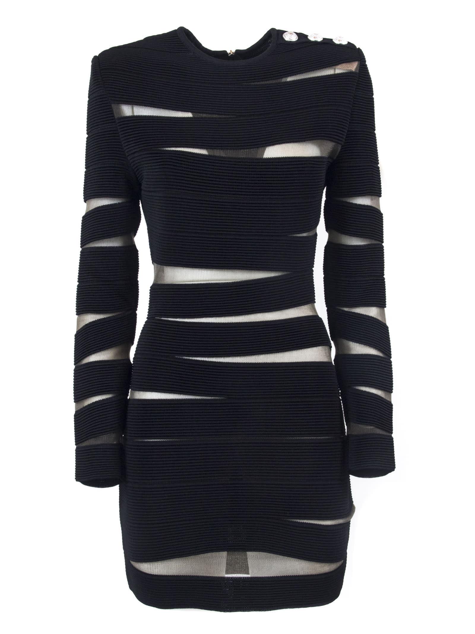 Balmain Black Knit Dress