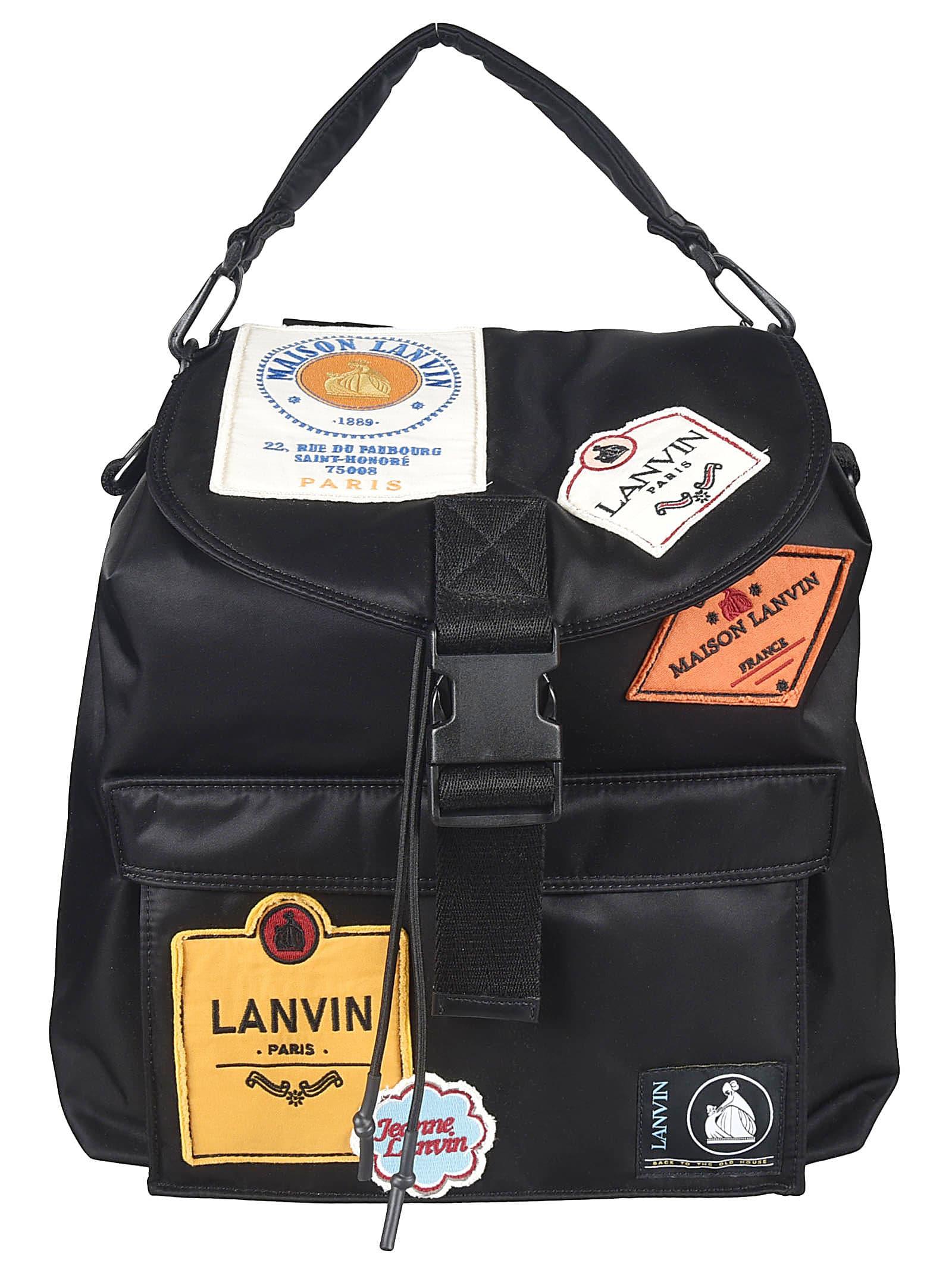 Lanvin Backpacks MULTI-PATCH BACKPACK