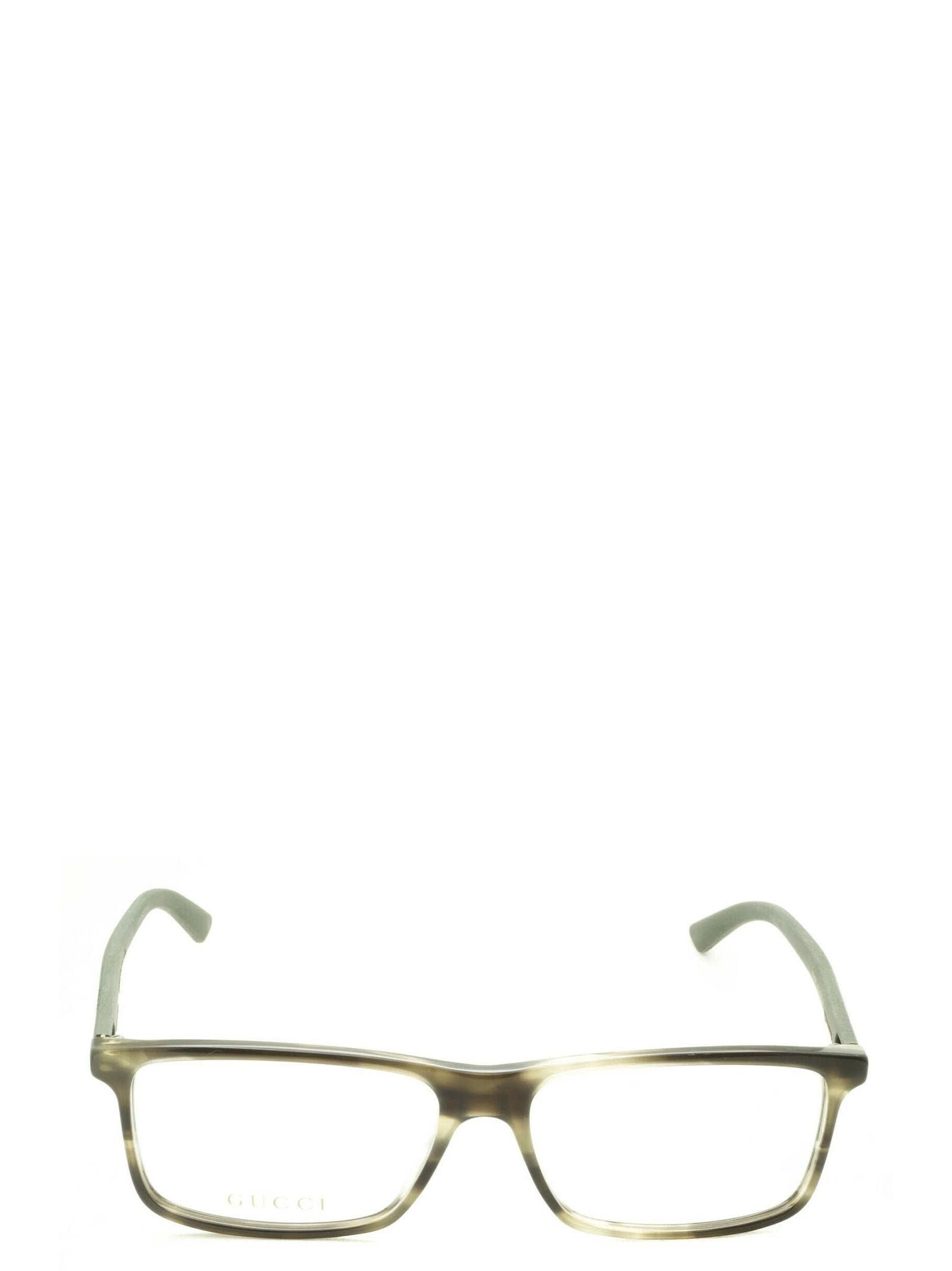 Gucci Gg0424o Green Havana Glasses