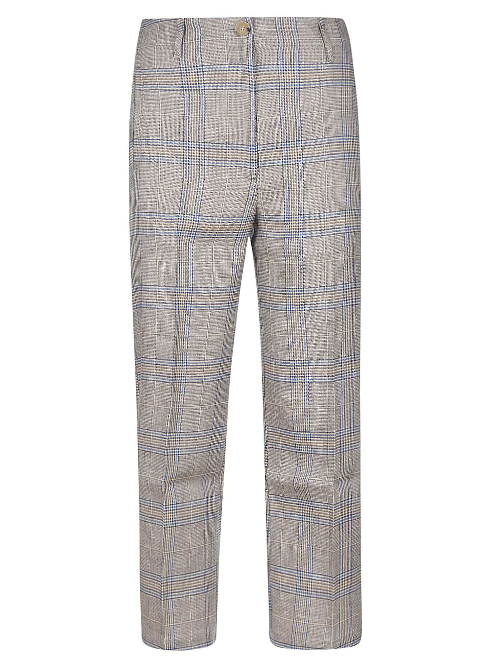 SEMICOUTURE Checked Buttoned Trousers