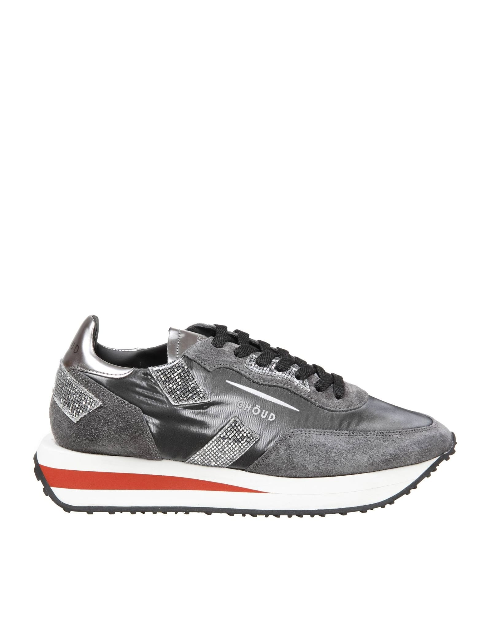 Ghoud GHOUD RUSH SUEDE AND NYLON SNEAKERS COLOR GRAY