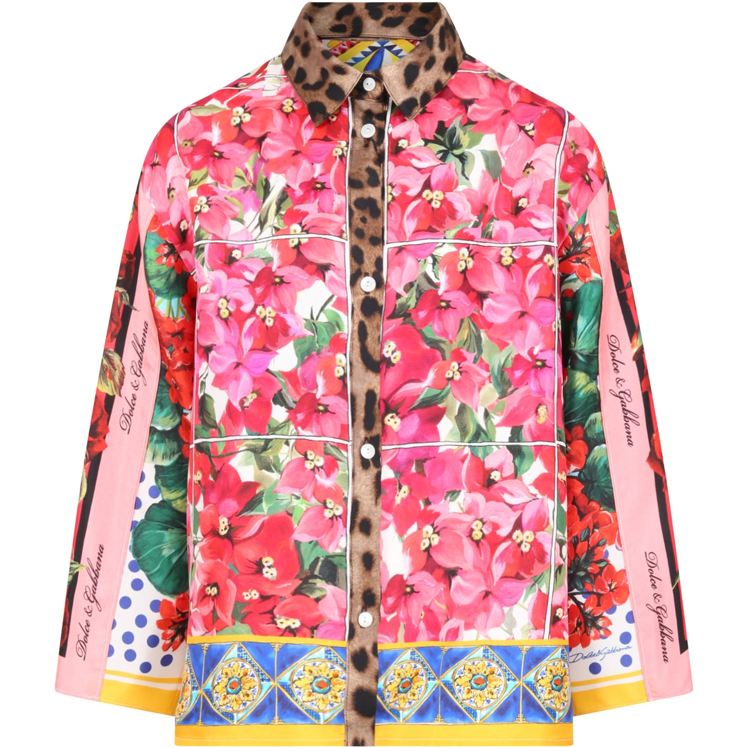 Dolce & Gabbana MULTICOLOR SHIRT FOR GIRL WITH LOGO