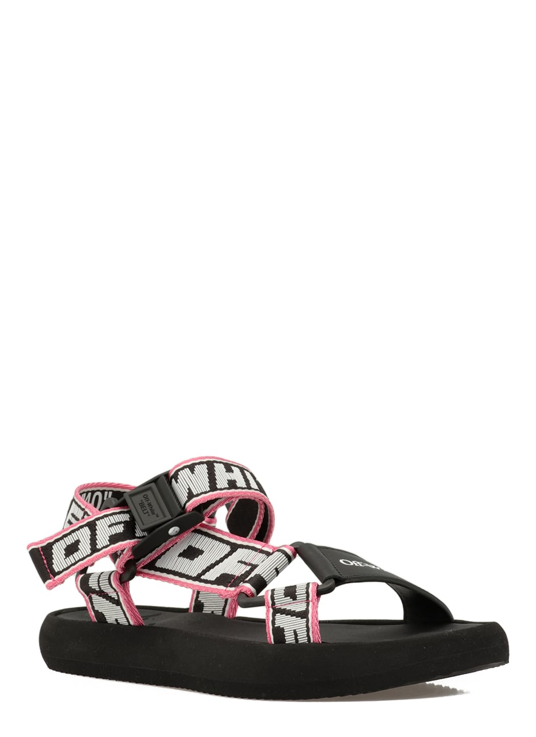 Off-White Sandals LEATHER AND FABRIC SANDAL