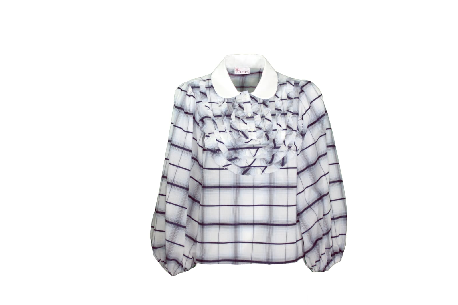 Red Valentino CHECK POPELINE COTTON SHIRT