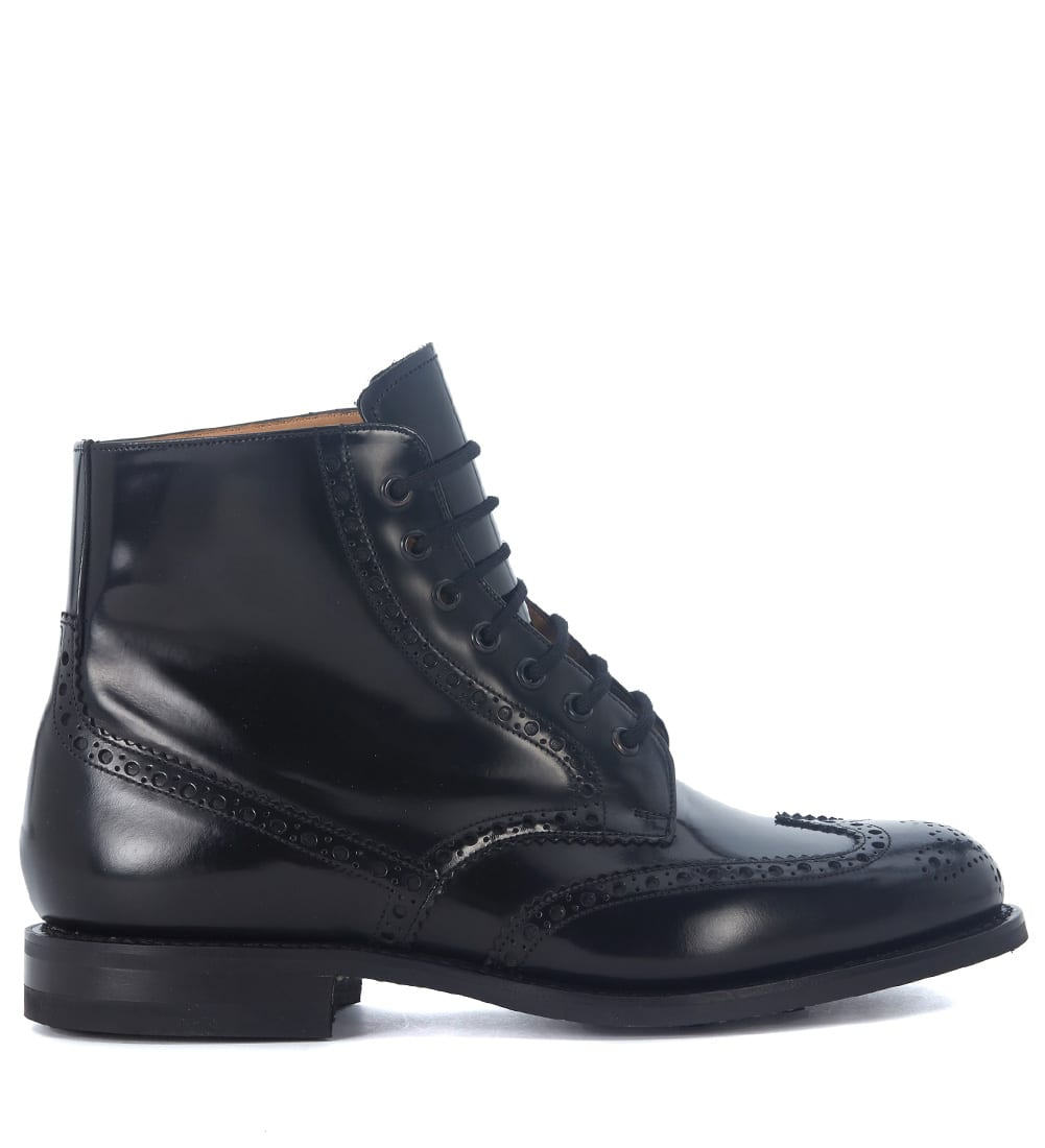 Churchs Renwick Black Brushed Leather Ankle Boots