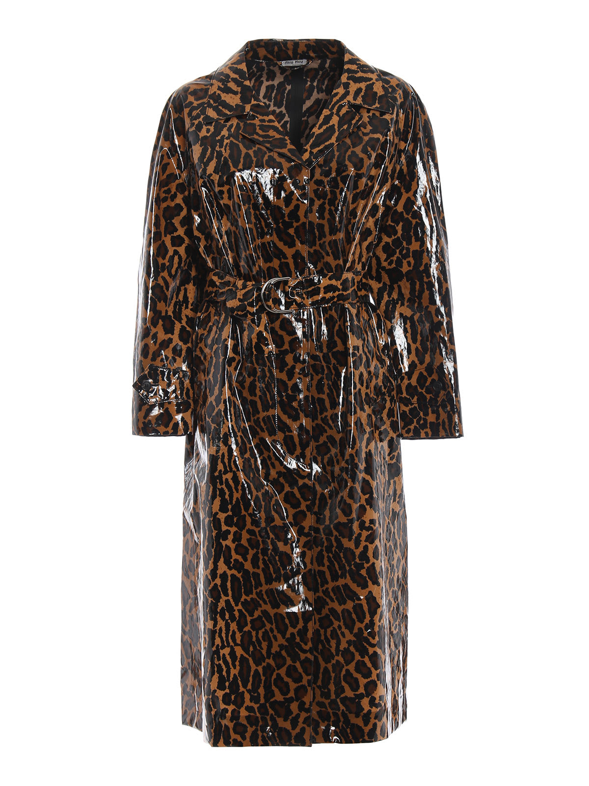 Photo of  Miu Miu Leopard Raincoat- shop Miu Miu jackets online sales