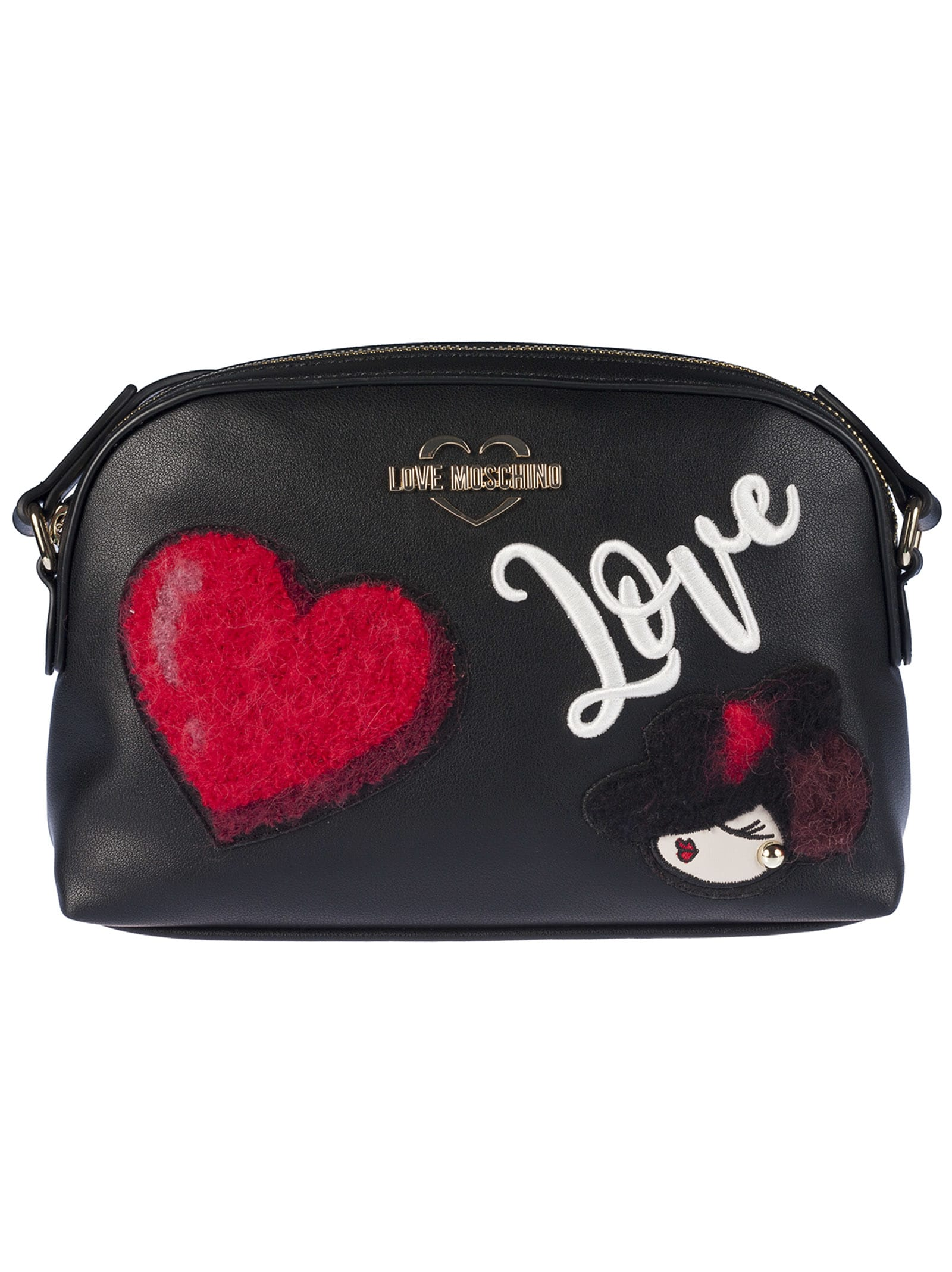 more photos c7805 2cb1f Best price on the market at italist   Love Moschino Love Moschino Appliqué  Shoulder Bag