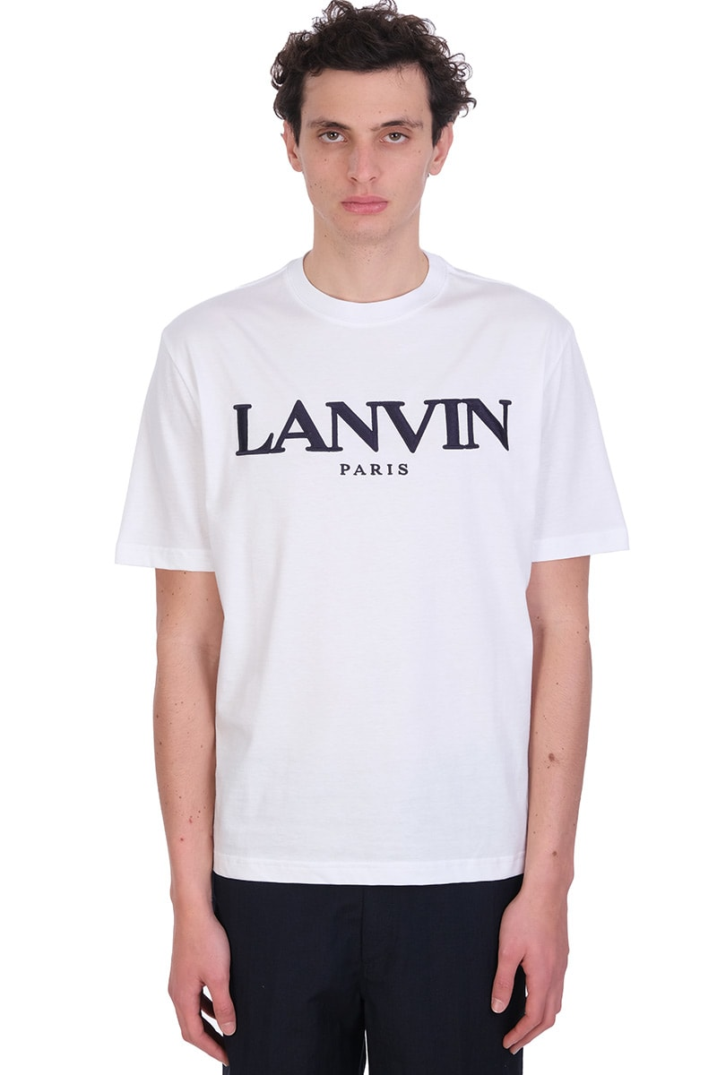 Lanvin Cottons T-SHIRT IN WHITE COTTON