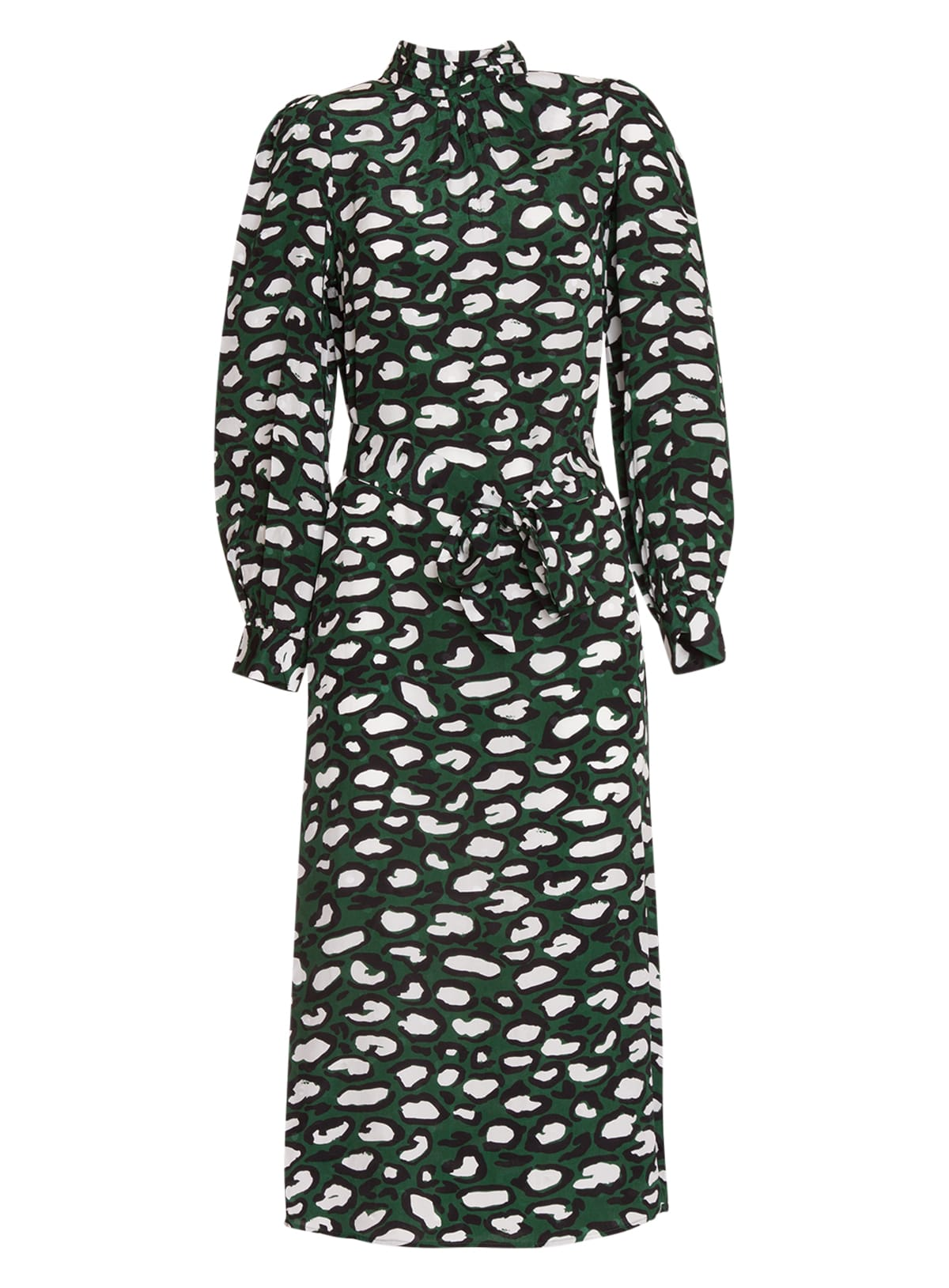 Essentiel Antwerp Printed Silk Midi Dress