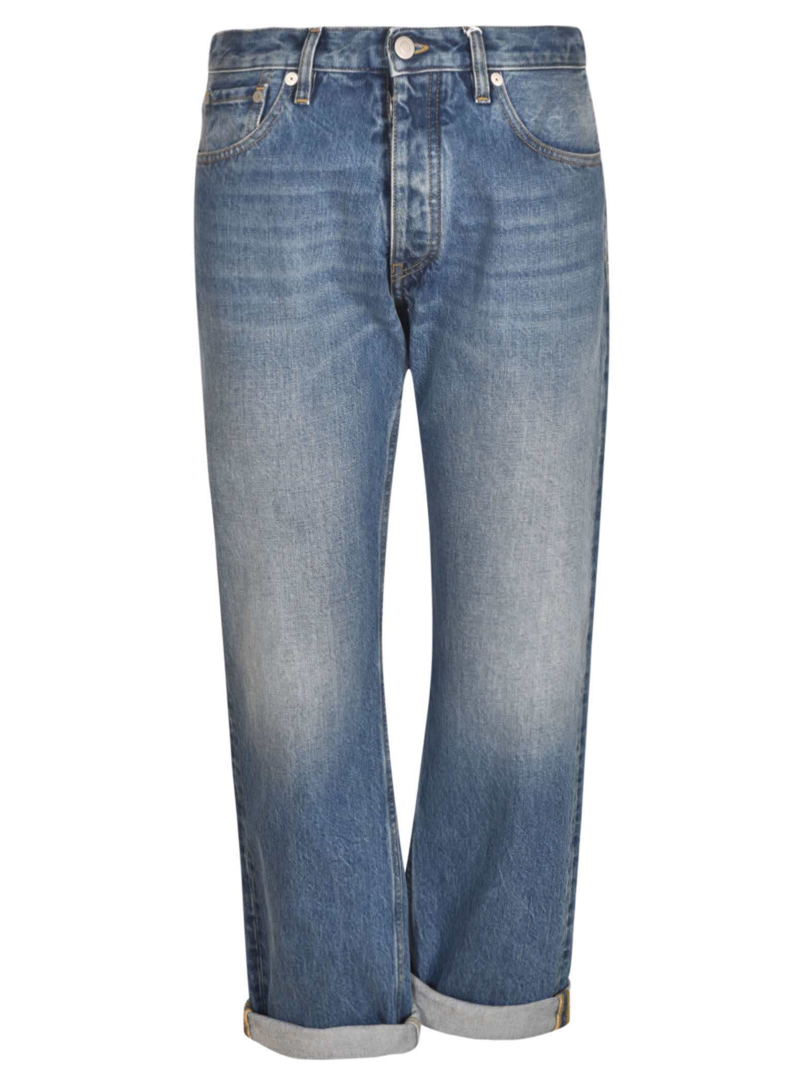 Maison Margiela Straight Jeans In Blue