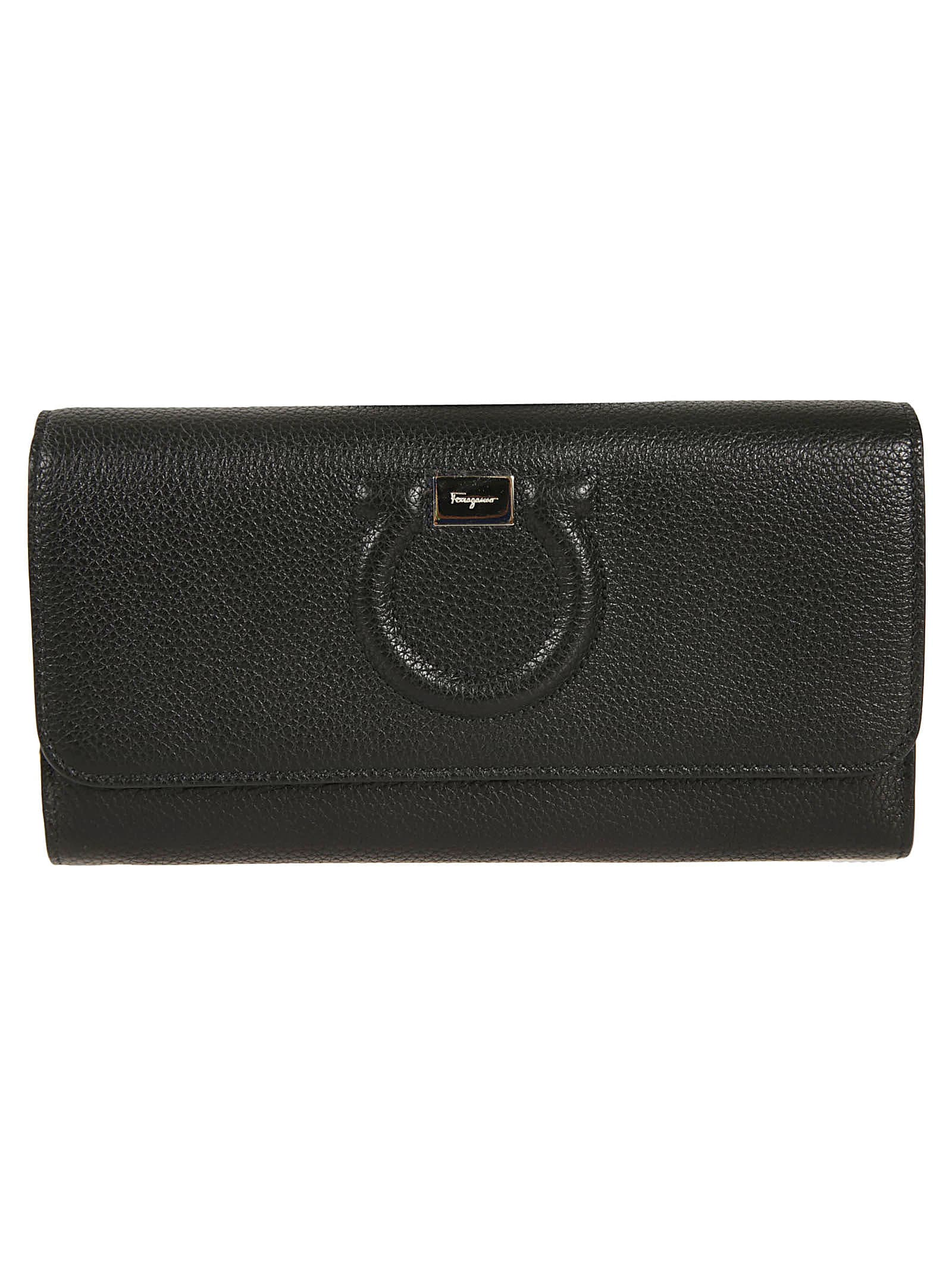 Salvatore Ferragamo Embossed Logo Chain Strap Clutch