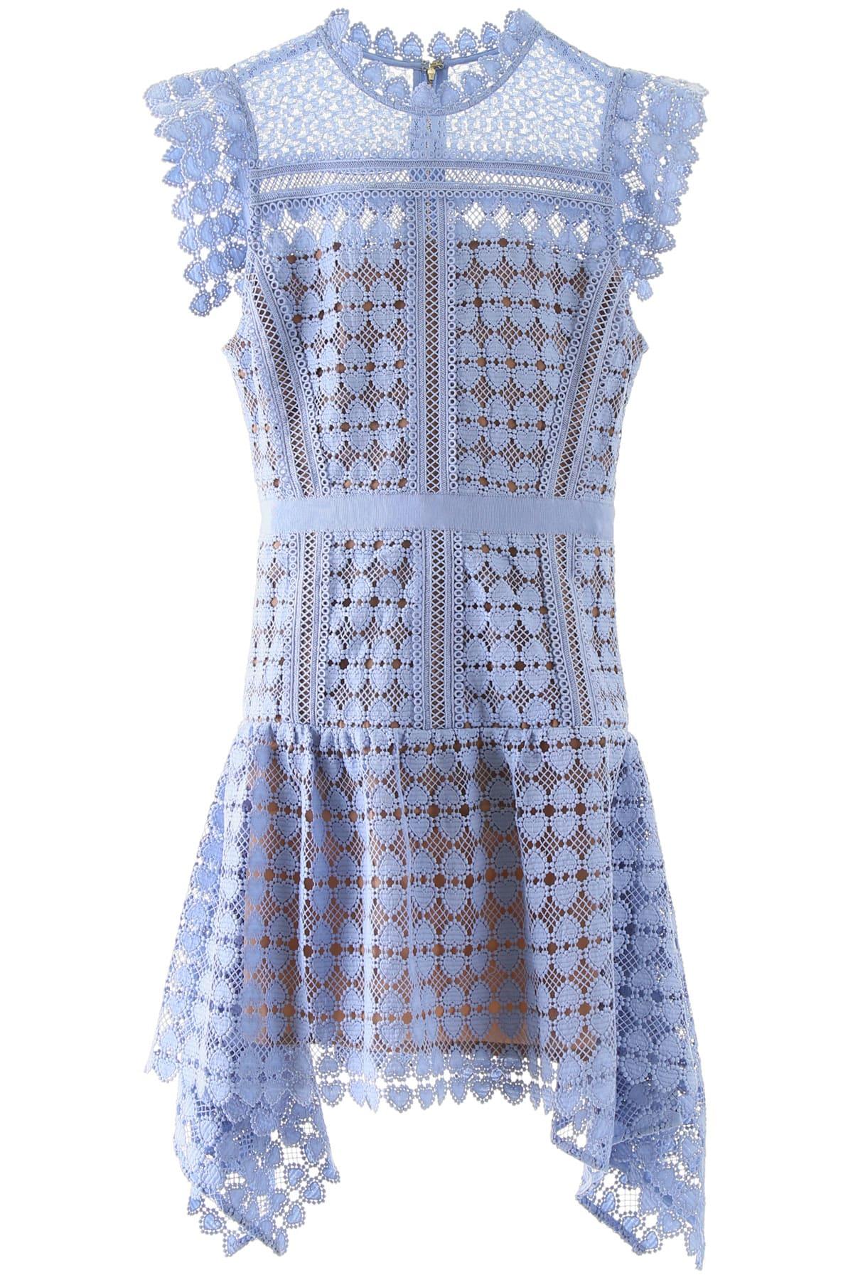 Buy self-portrait Heart Lace Mini Dress online, shop self-portrait with free shipping