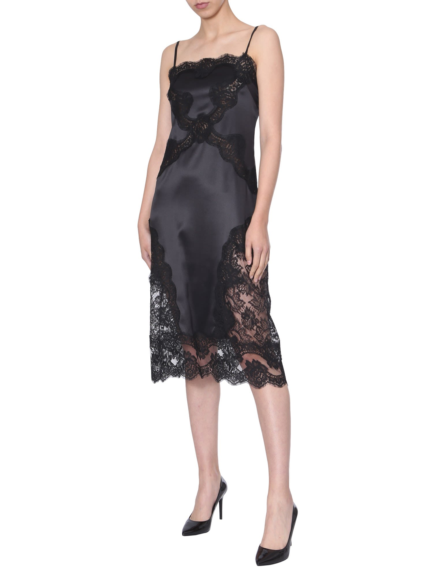 Dolce & Gabbana Dress With Lace Inserts