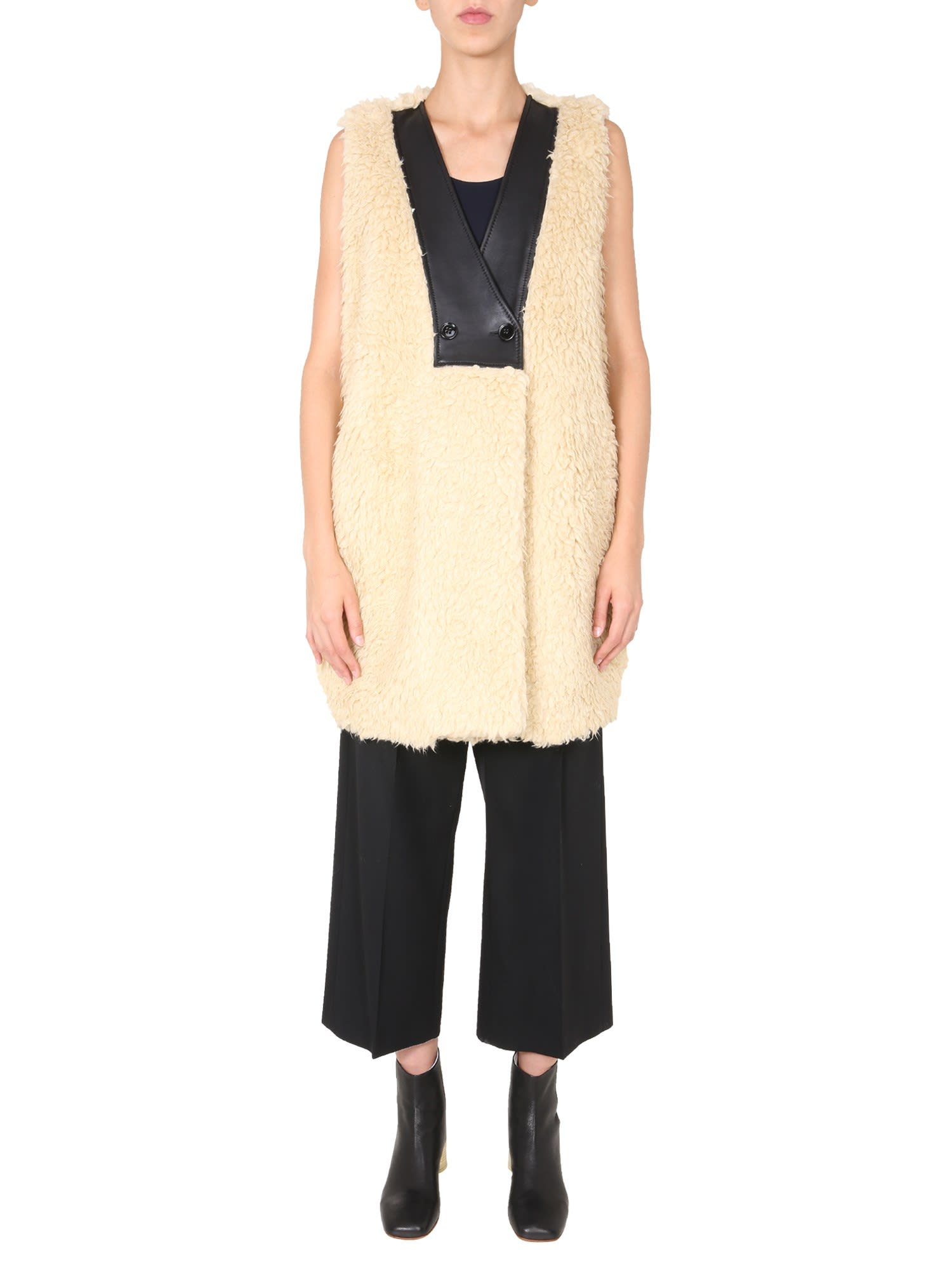 MM6 MAISON MARGIELA SHEARLING VEST