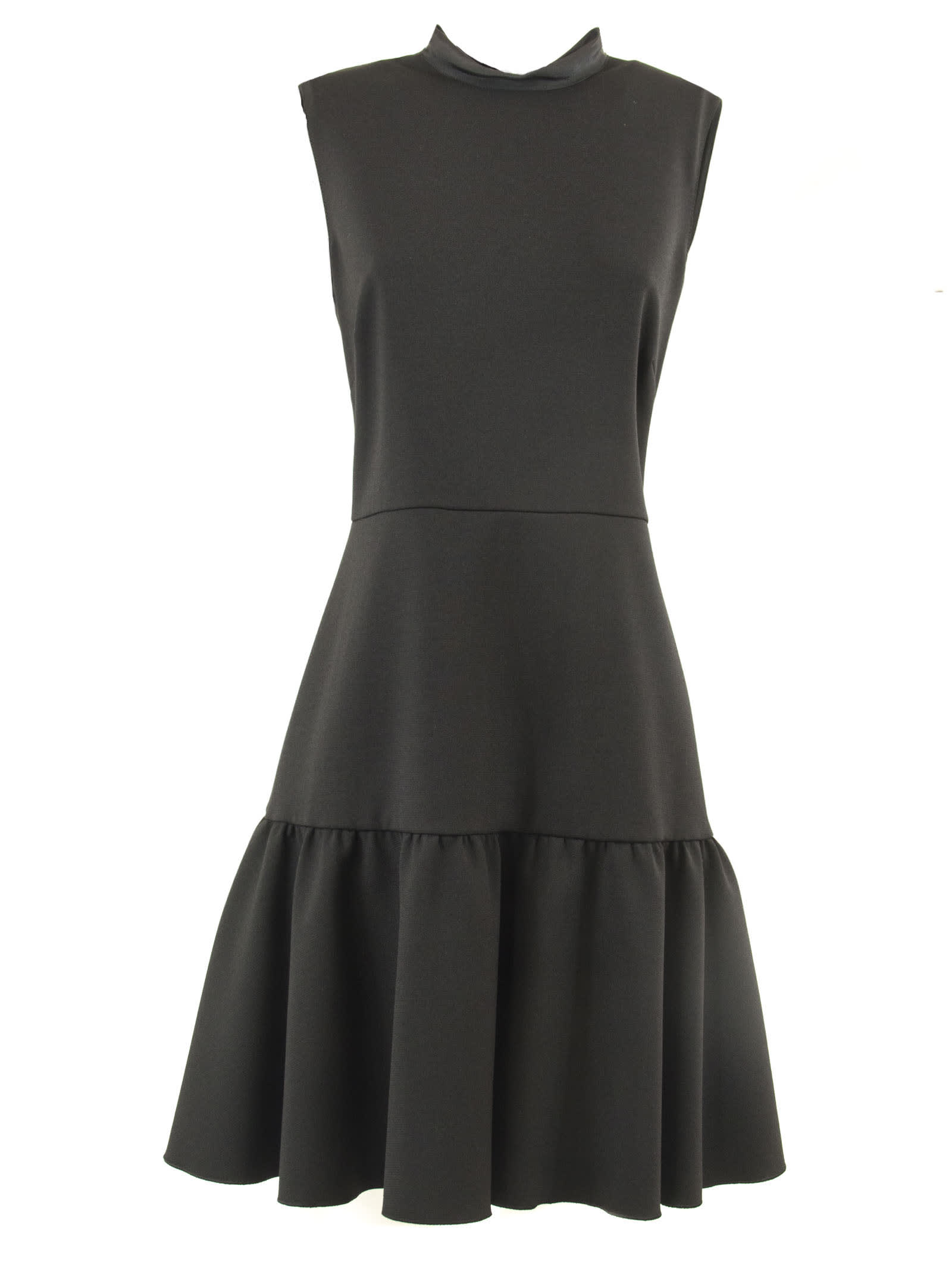 RED Valentino Long Dress In Black Fabric