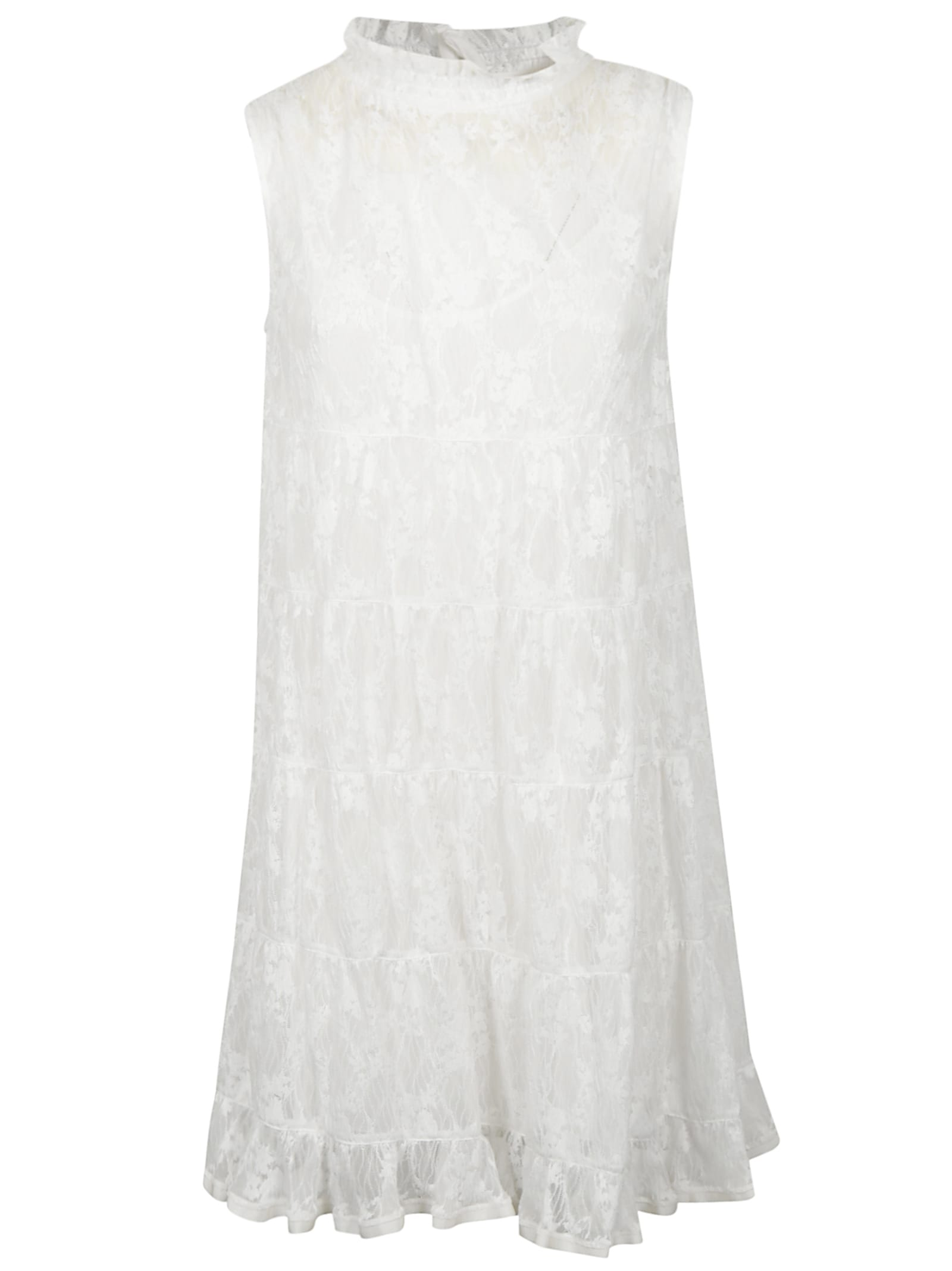 See by Chloé Ruffled Laced Sleeveless Dress