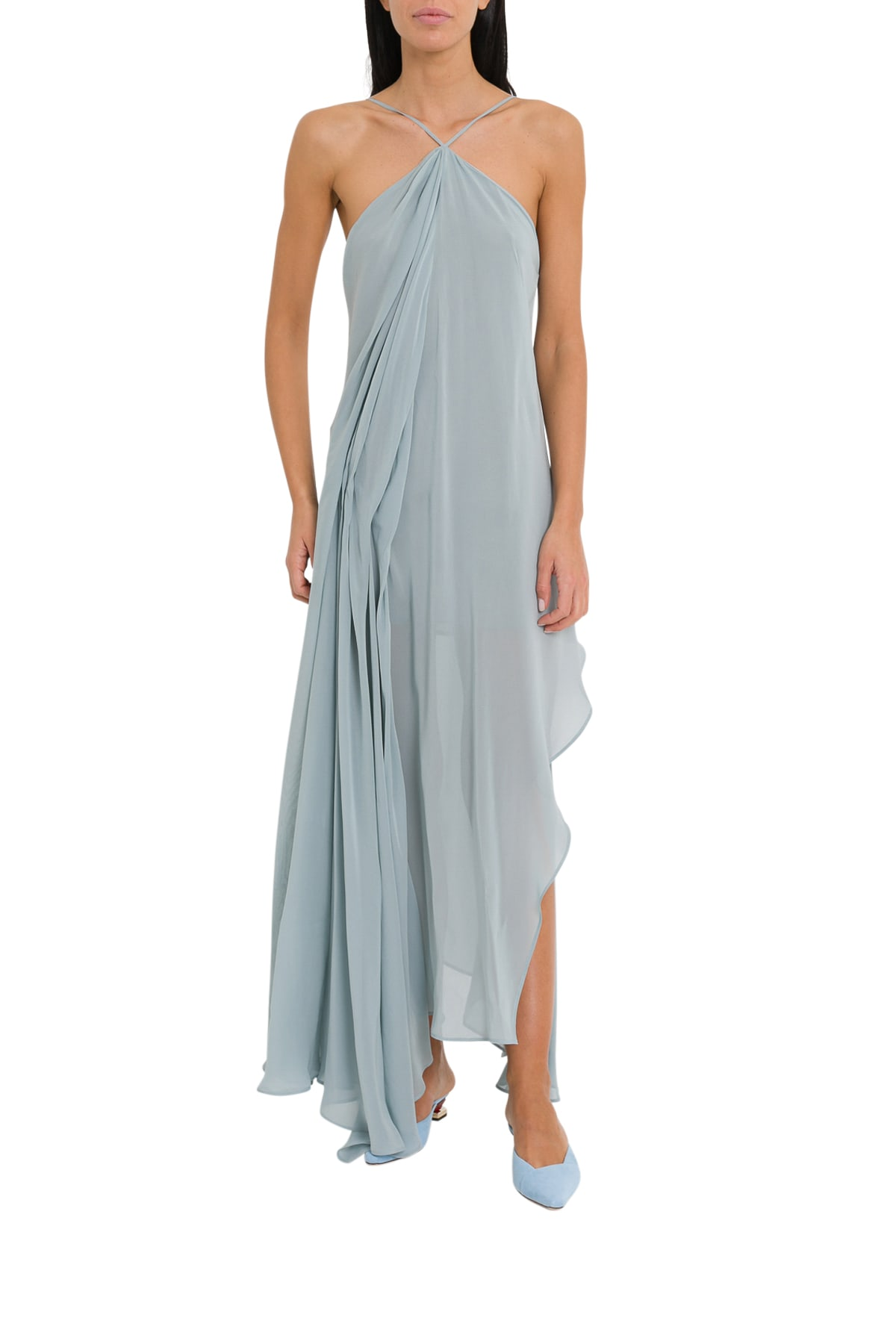 Photo of  Jacquemus Long Draped Dress With Corssed Neckline- shop Jacquemus  online sales