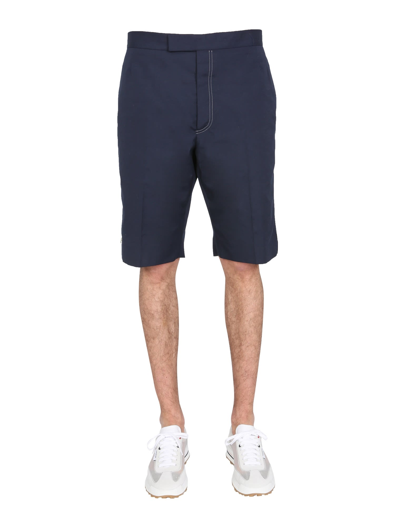 Thom Browne Cottons BERMUDA WITH CONTRAST STITCHING