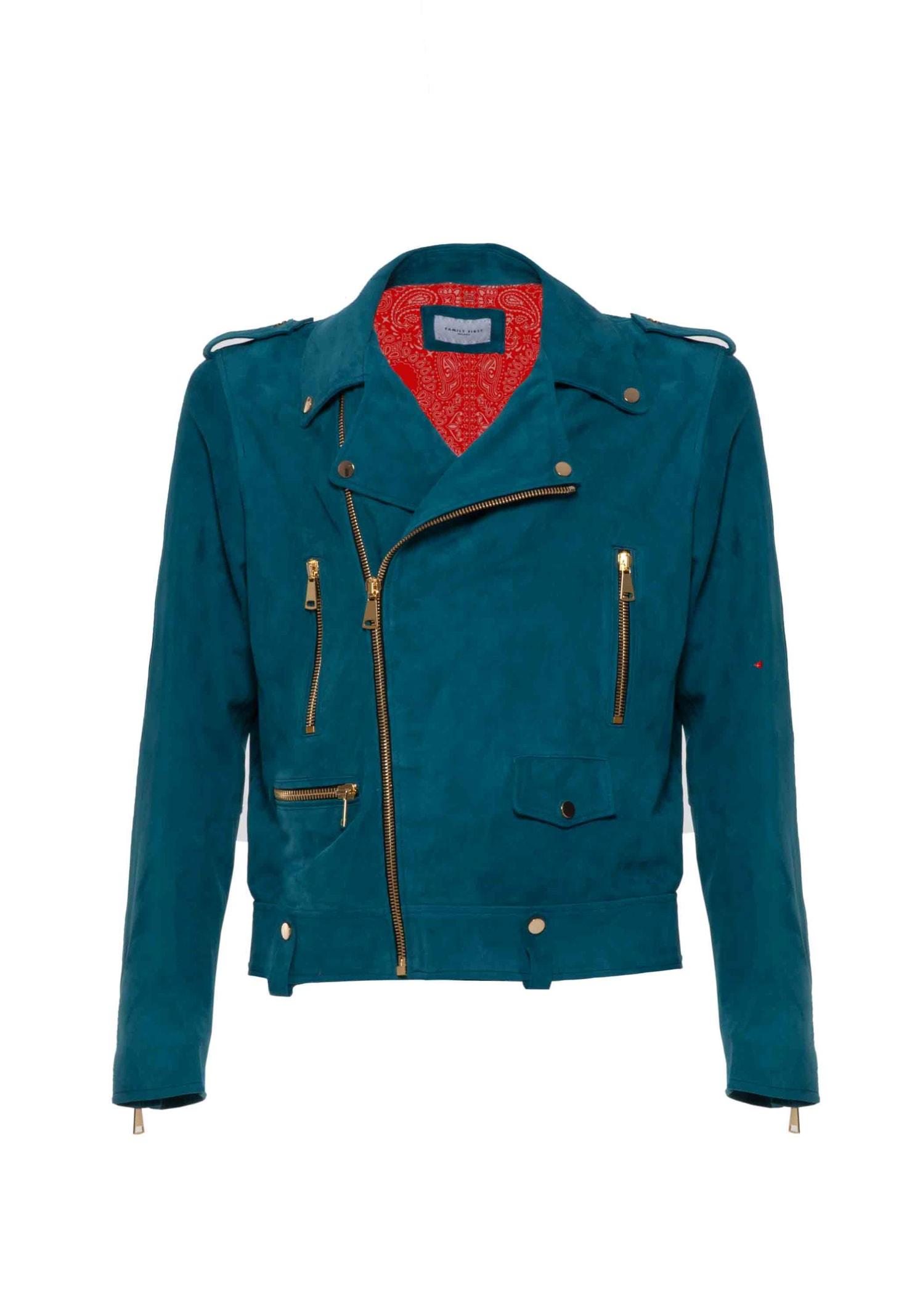 Biker Leather Suede Green