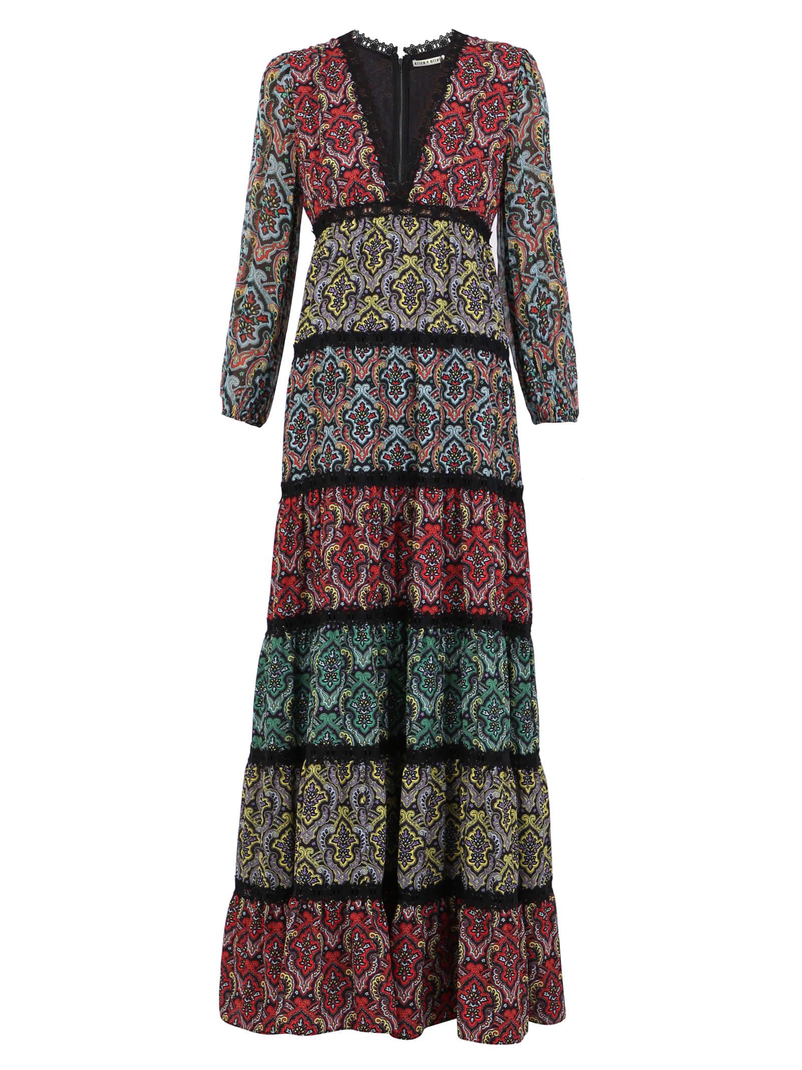 Alice + Olivia Paisley Motif Dress