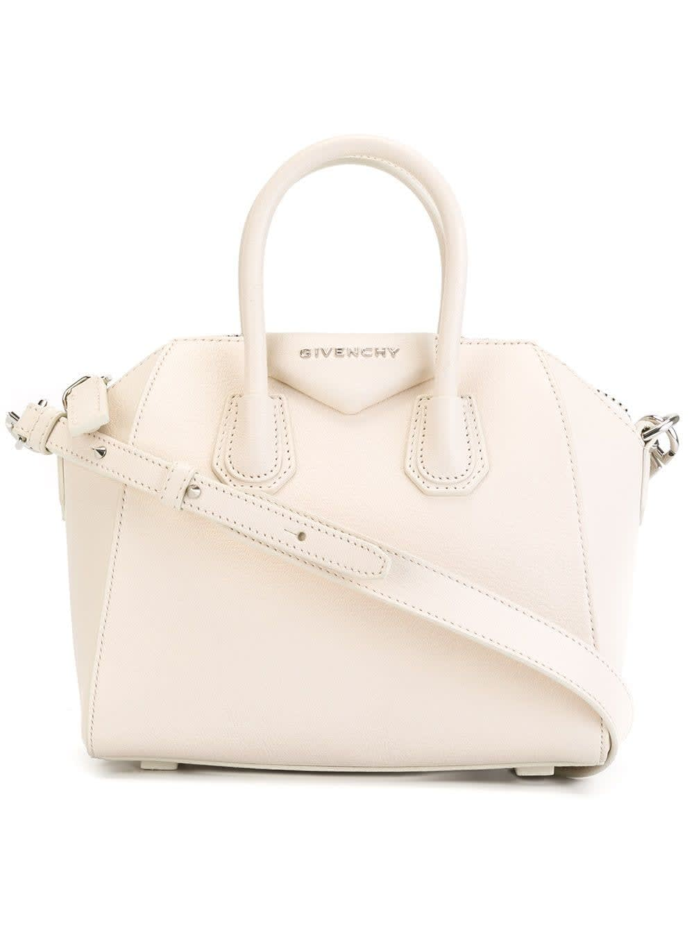 Mini Antigona Bag In Light Pink Grain Leather