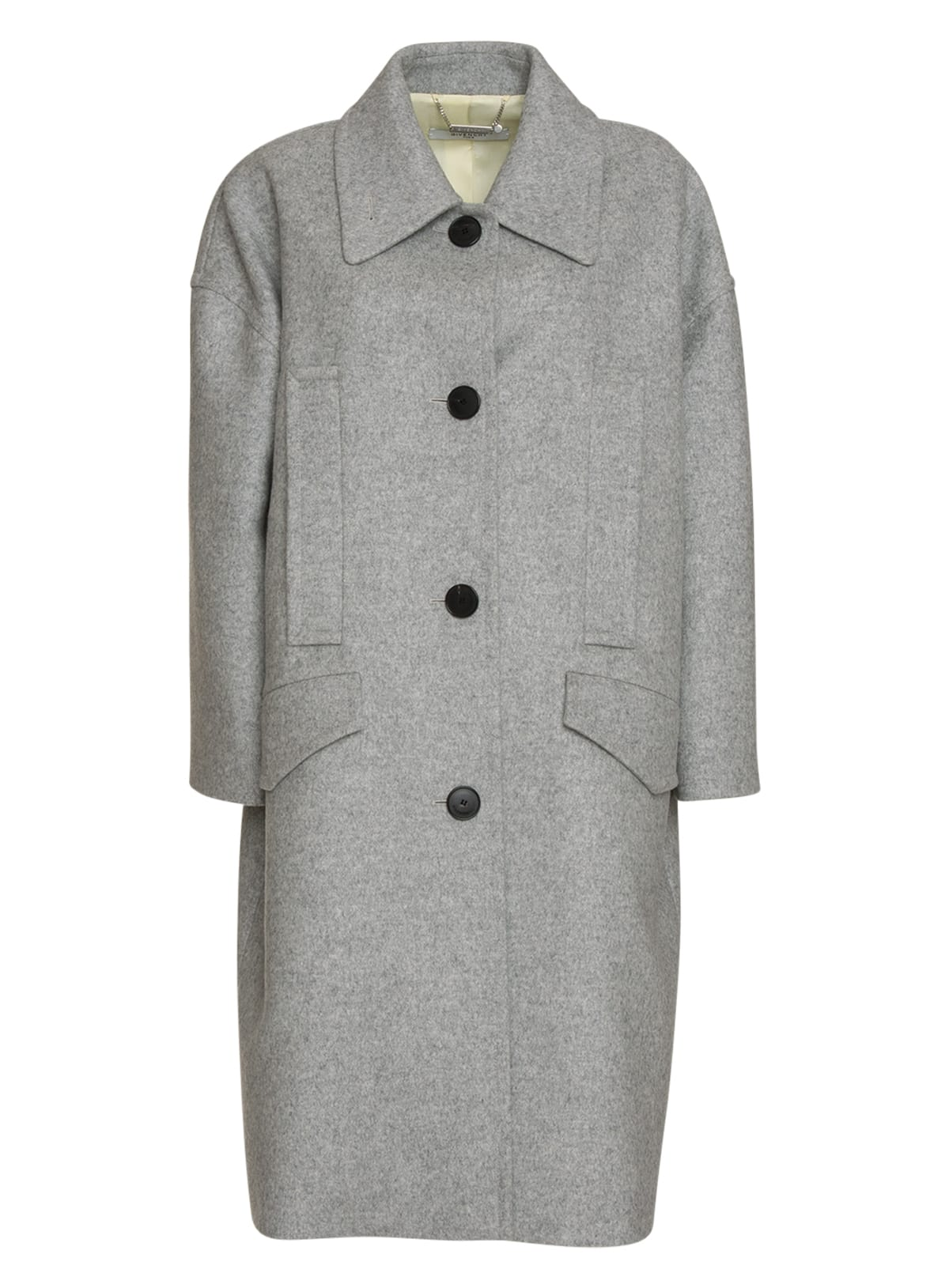 Givenchy Oversized Coat In Grey