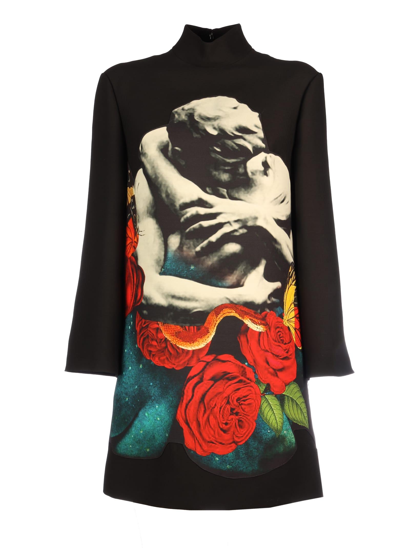 Valentino Long Sleeves Printed Dress